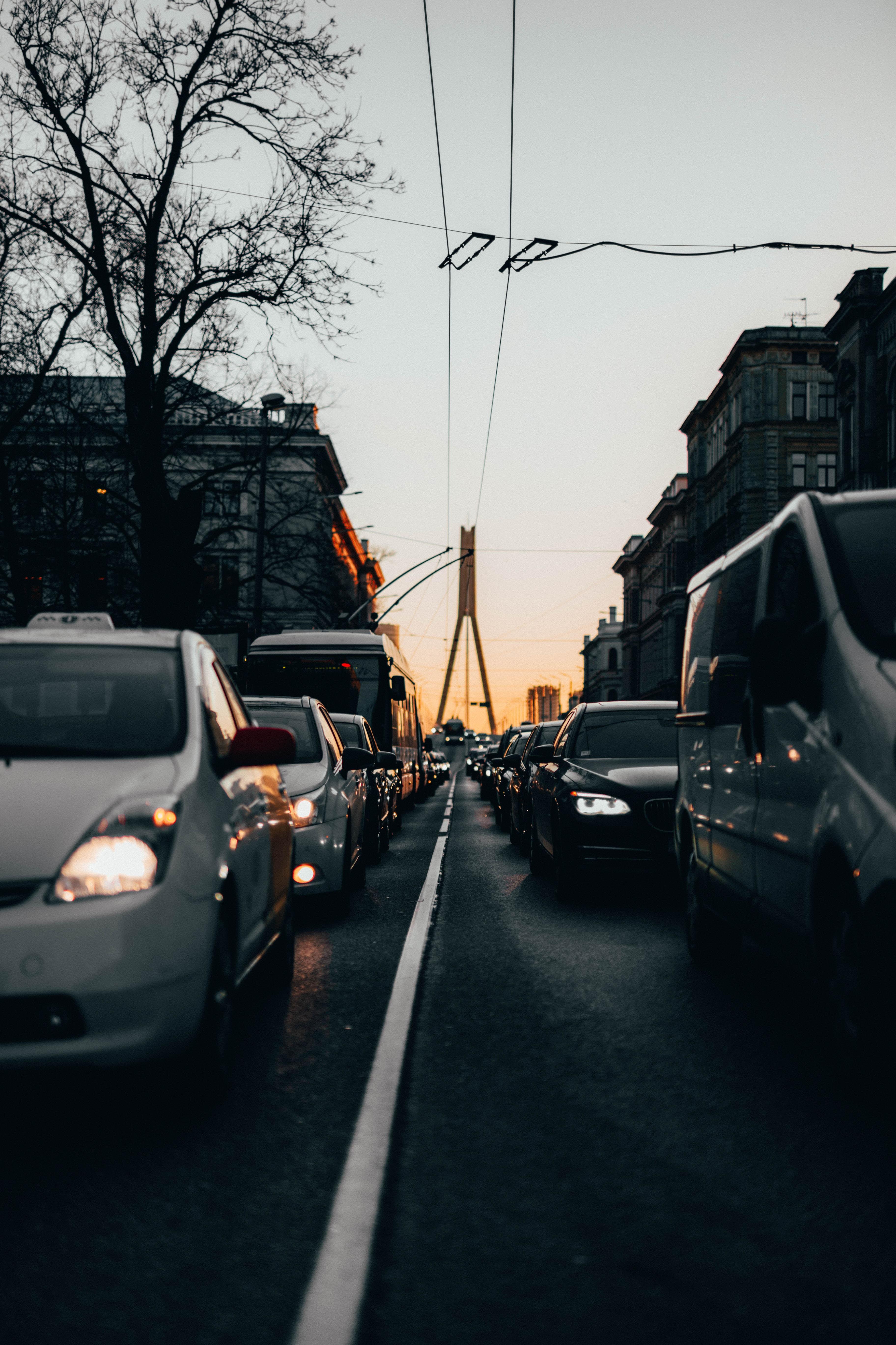 136469 скачать обои Дорога, Транспорт, Пробка, Движение, Час Пик, Города - заставки и картинки бесплатно