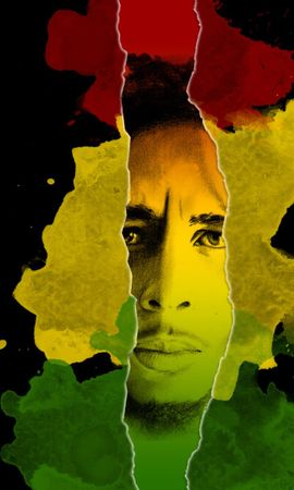 18537 télécharger le fond d'écran Musique, Personnes, Contexte, Artistes, Drapeaux, Hommes, Bob Marley - économiseurs d'écran et images gratuitement