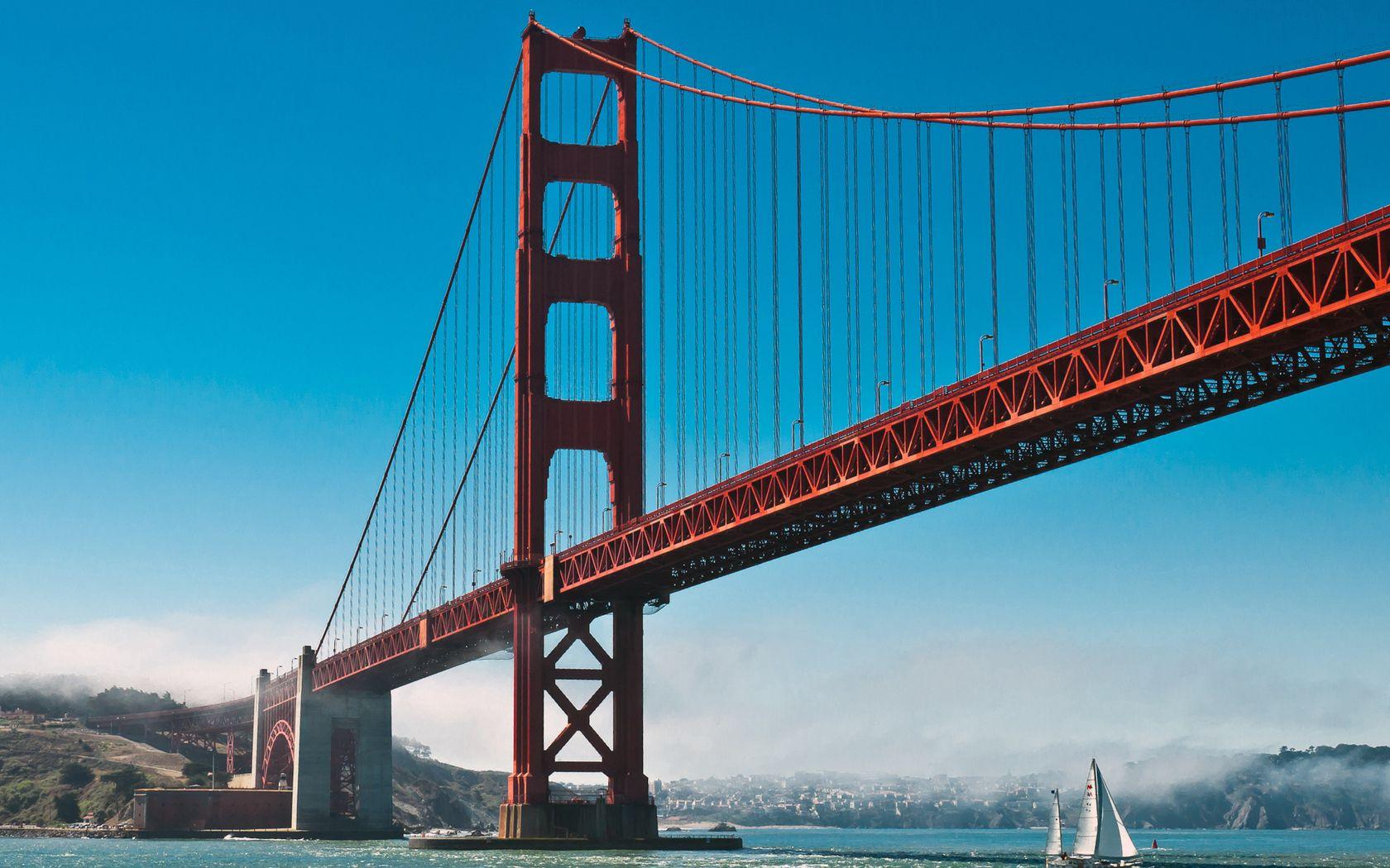 74925 Hintergrundbild 800x480 kostenlos auf deinem Handy, lade Bilder Städte, Wasser, Sky, Ozean, Segelboot, Sailfish, Mündung, Die Bucht, San Francisco, Goldenes Tor, Golden Gate 800x480 auf dein Handy herunter
