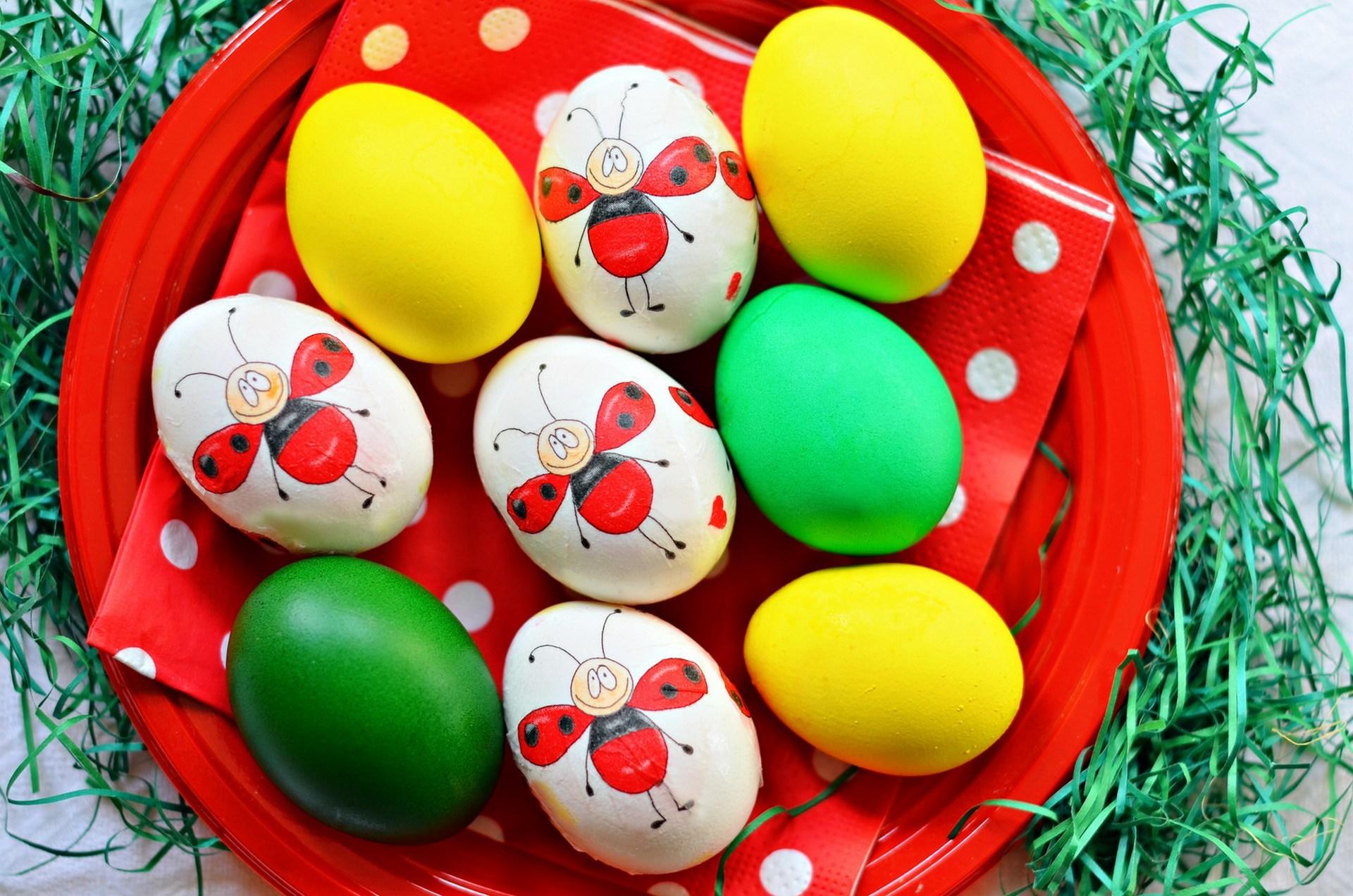 71929 descargar fondo de pantalla Vacaciones, Pintado, Lámina, Plato, Decoración, Pascua, Huevos: protectores de pantalla e imágenes gratis