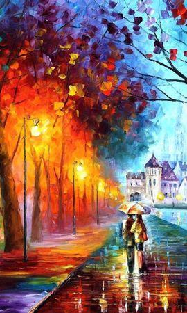 128374 baixar papel de parede Arte, Outono, Foto, Desenho, Passeio, Passear - protetores de tela e imagens gratuitamente