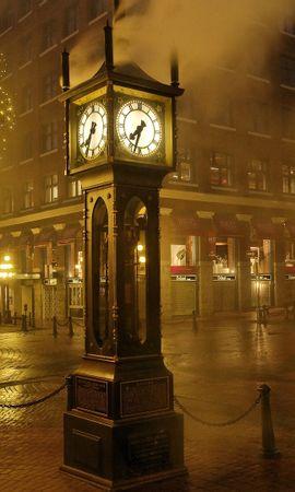22279 descargar fondo de pantalla Paisaje, Ciudades, Calles, Noche, Reloj: protectores de pantalla e imágenes gratis