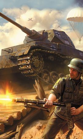 11208 download wallpaper Games, People, Fire, Smoke, Tanks, War, Blitzkrieg screensavers and pictures for free