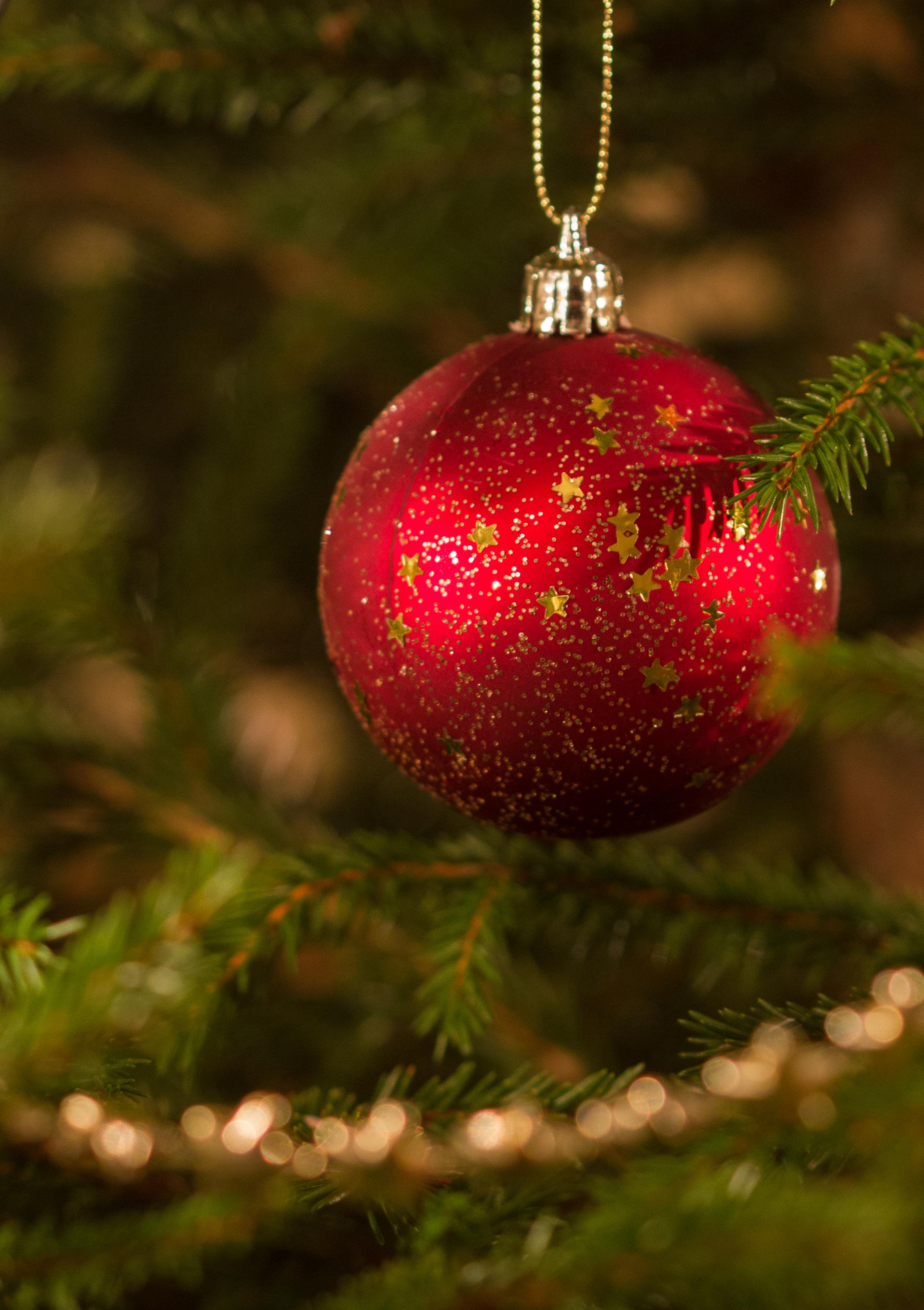 126481 Hintergrundbild herunterladen Feiertage, Weihnachten, Neujahr, Dekoration, Neues Jahr, Ball, Weihnachtsbaum - Bildschirmschoner und Bilder kostenlos