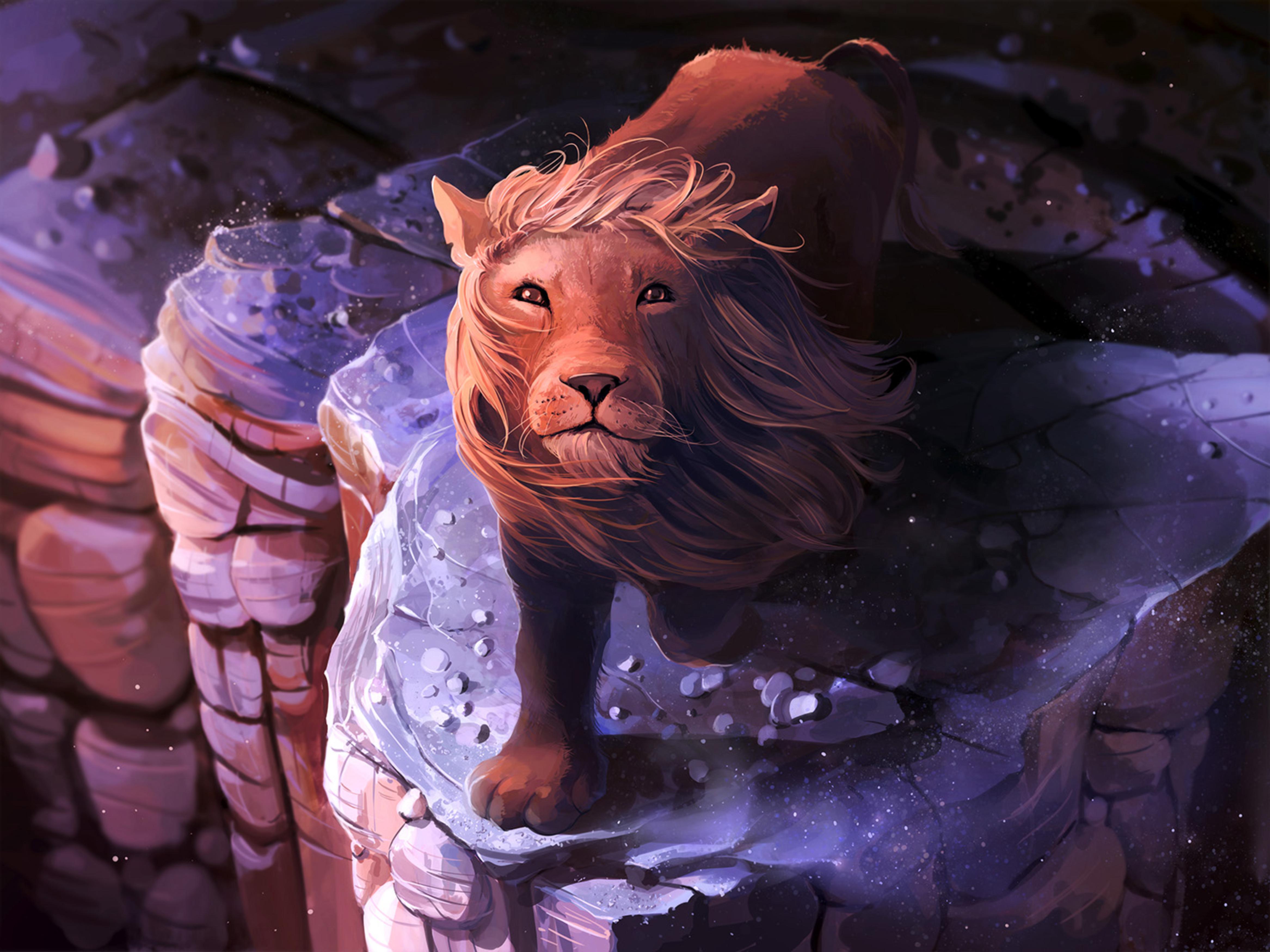 71081 baixar papel de parede Arte, Leão, Um Leão, Juba, Rei Das Feras, Rei Das Bestas - protetores de tela e imagens gratuitamente