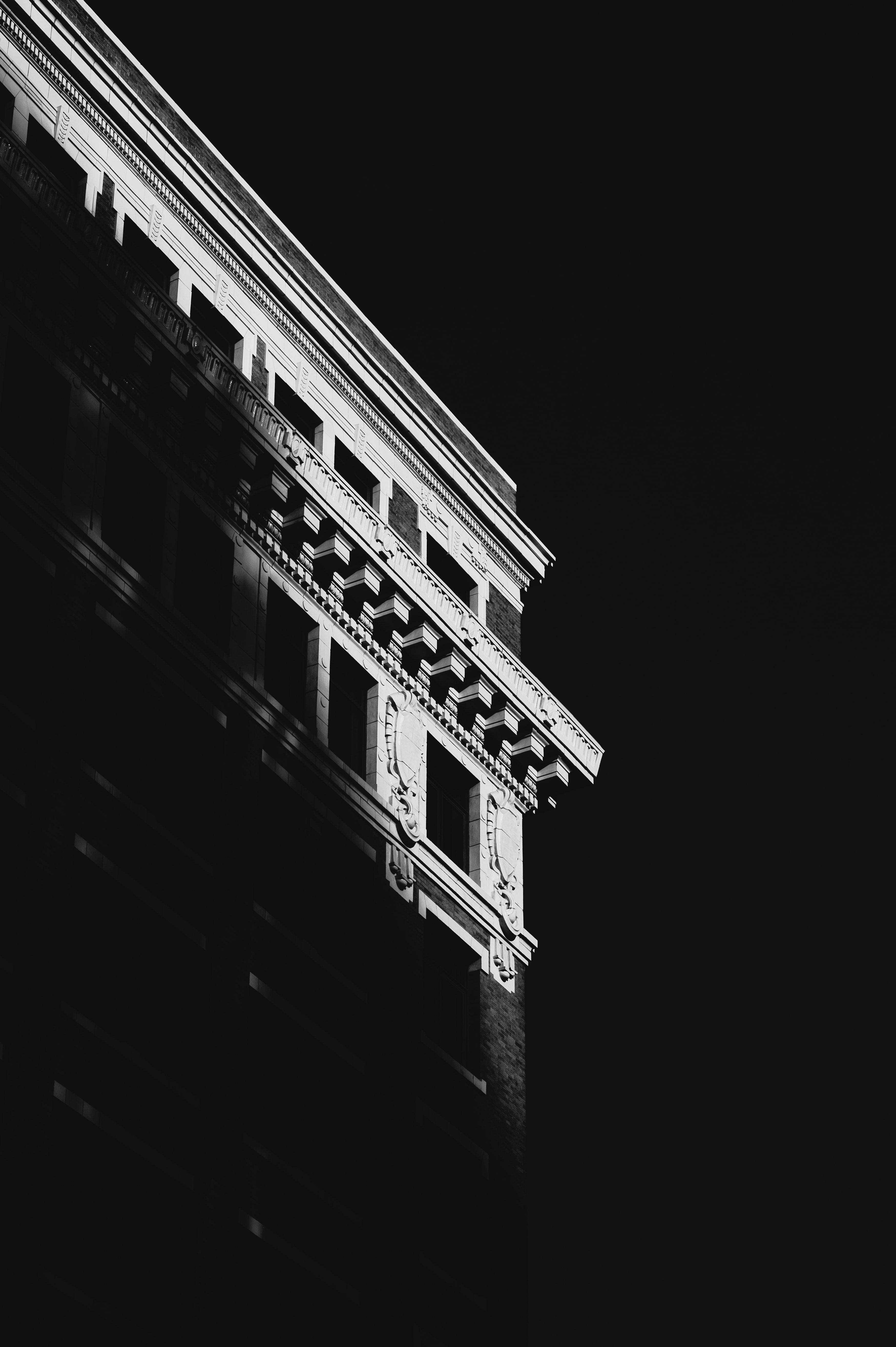 104498 baixar papel de parede Prédio, Edifício, Sombra, Preto E Branco, Preto-E-Branco, O Preto, Arquitetura - protetores de tela e imagens gratuitamente