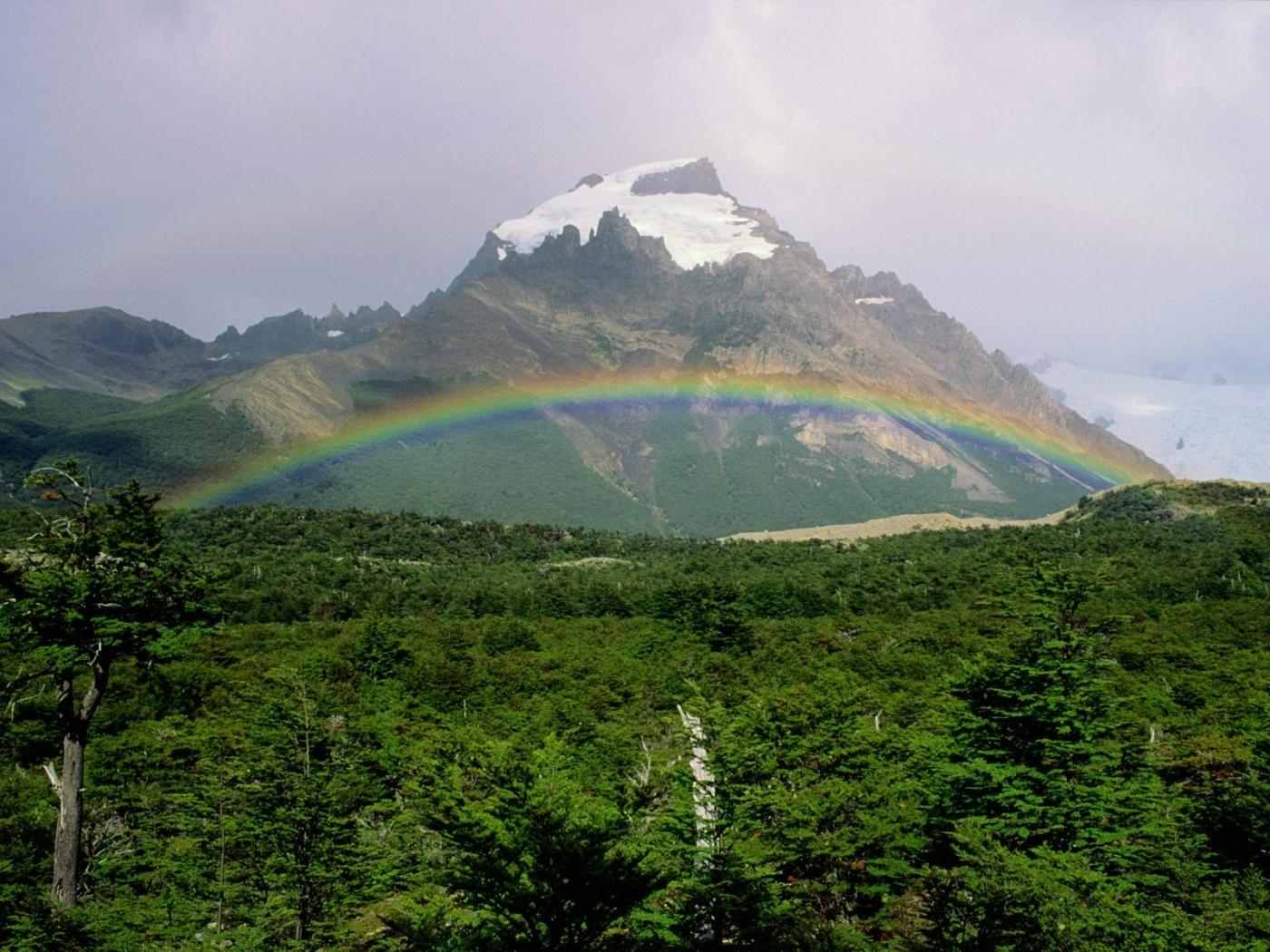 40016 免費下載壁紙 景观, 山, 彩虹 屏保和圖片