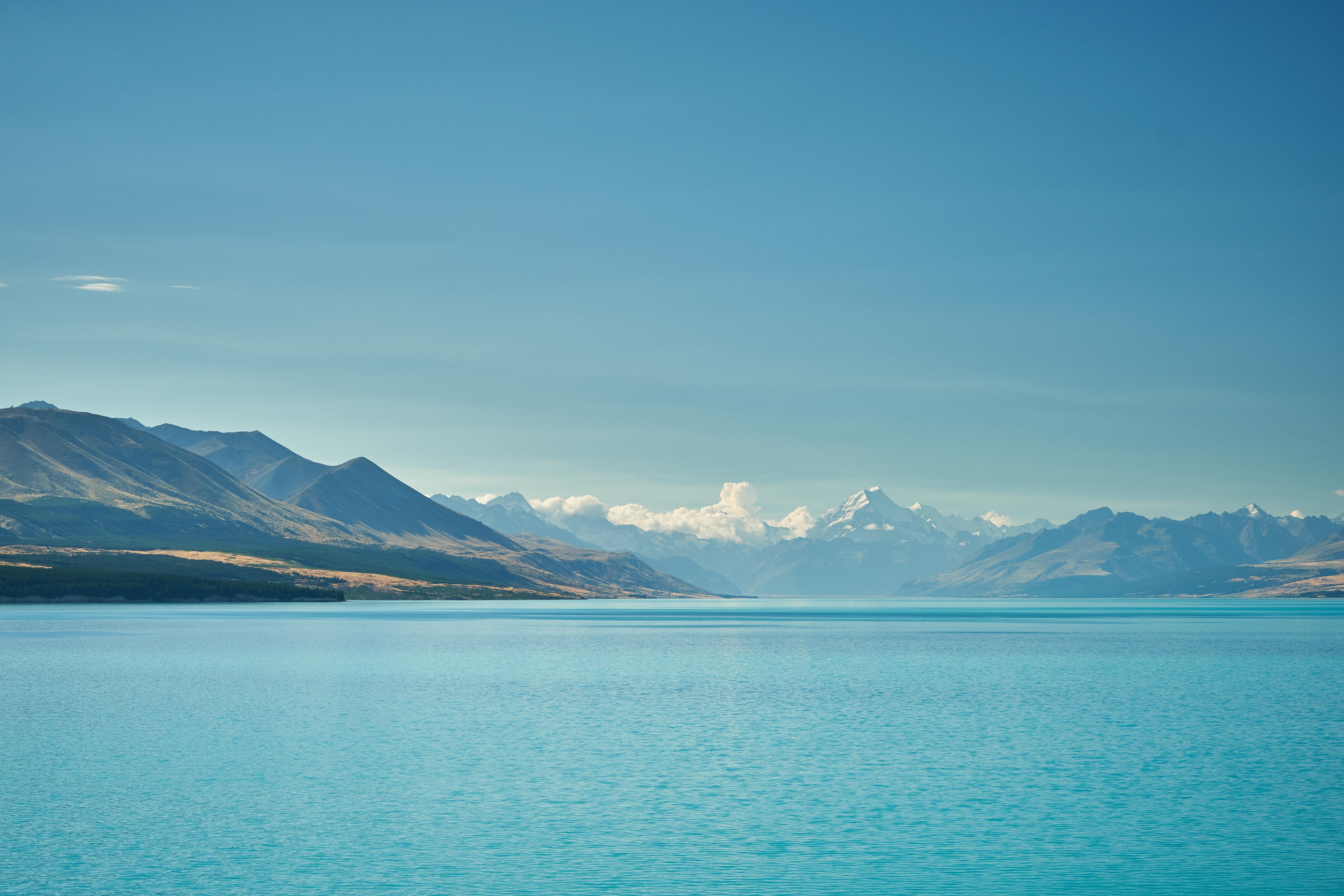 52807 скачать обои Море, Природа, Вода, Небо, Горы, Облака, Горизонт - заставки и картинки бесплатно