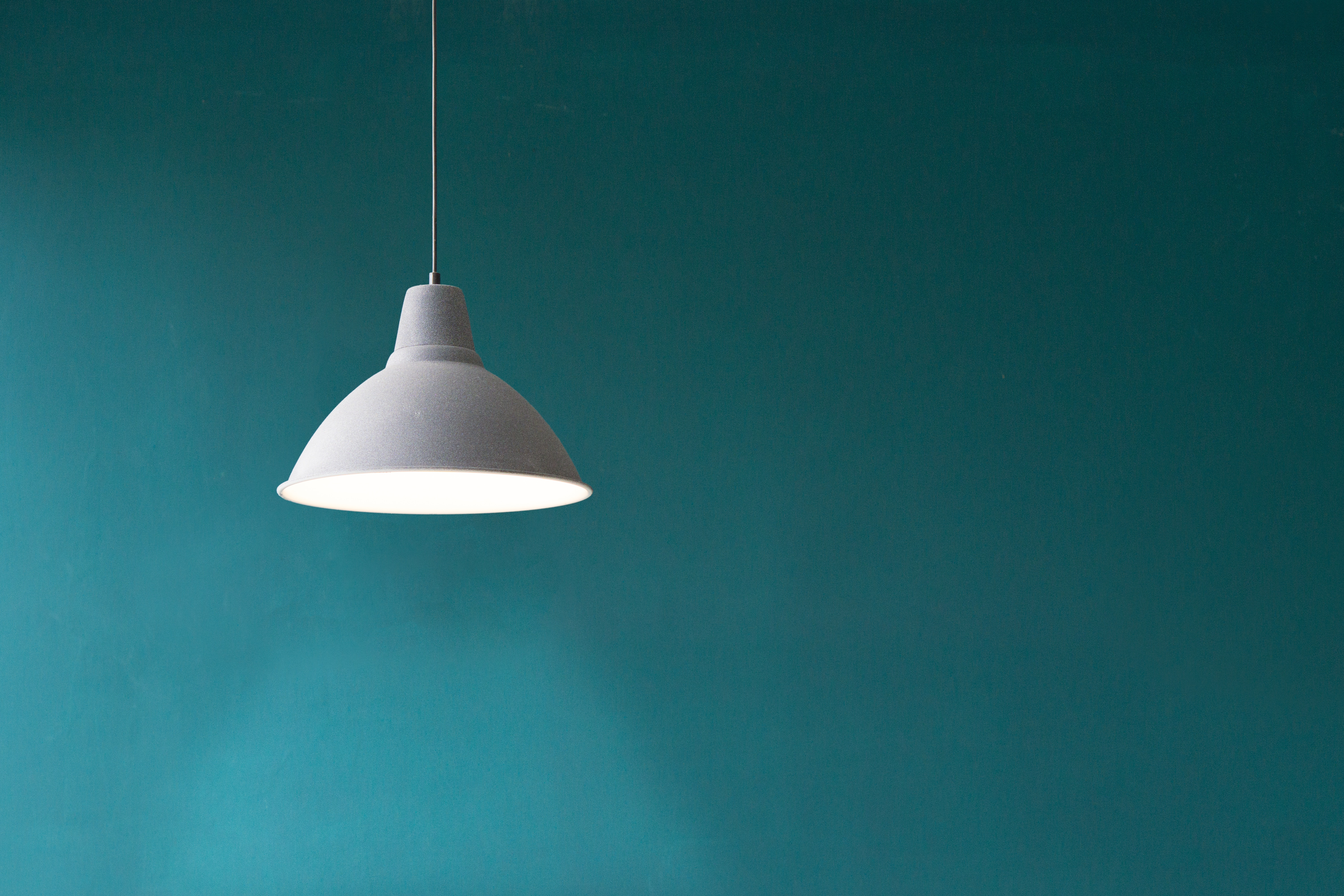 93996 download wallpaper Minimalism, Wall, Lamp, Electricity screensavers and pictures for free