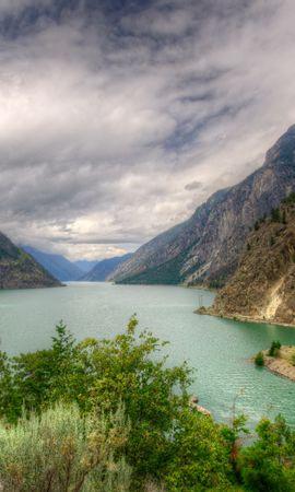 98250 скачать обои Озеро, Канада, Seton Lillooet, Hdr, Природа, Горы, Пейзаж - заставки и картинки бесплатно