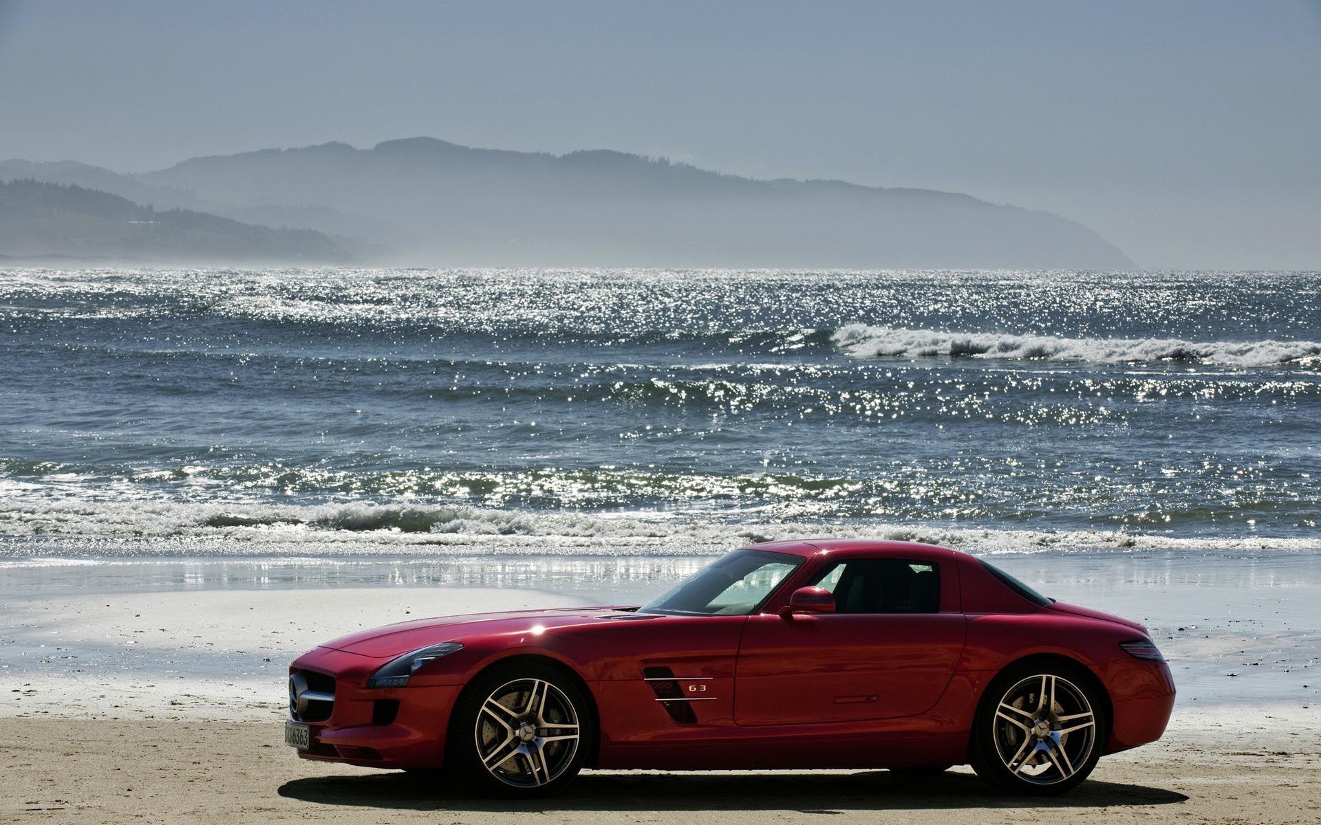 49022 скачать обои Транспорт, Машины, Море, Мерседес (Mercedes) - заставки и картинки бесплатно