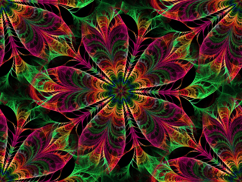 126908 Hintergrundbild herunterladen Abstrakt, Blumen, Patterns, Kaleidoskop - Bildschirmschoner und Bilder kostenlos