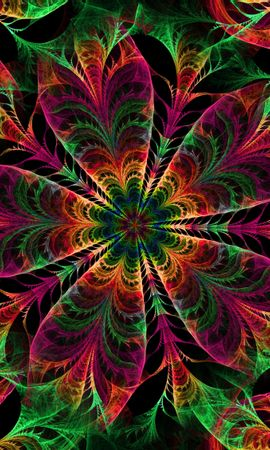 126908 télécharger le fond d'écran Abstrait, Kaléidoscope, Fleurs, Patterns - économiseurs d'écran et images gratuitement