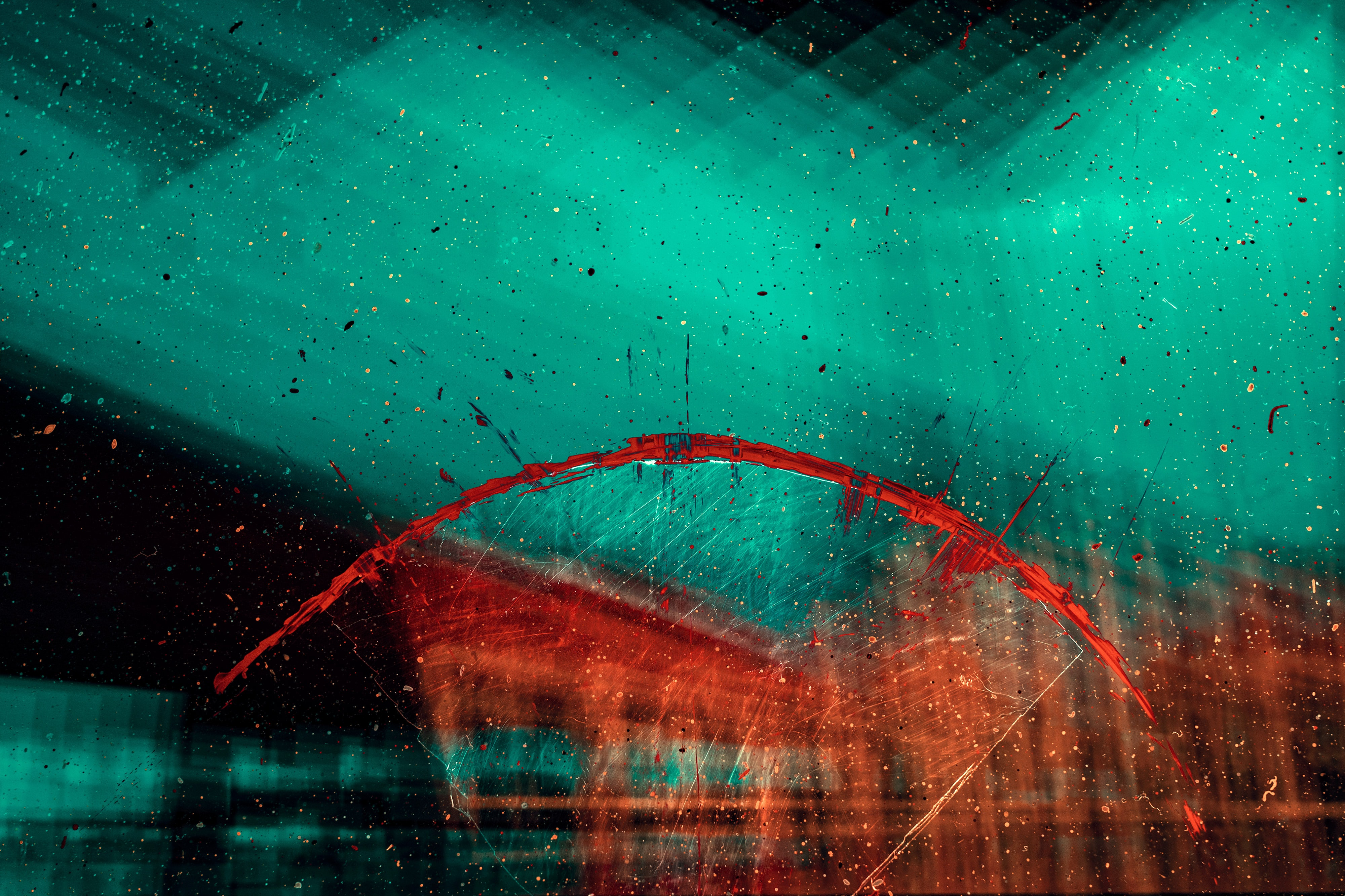 158103 download wallpaper Abstract, Paint, Spray, Glass, Blur, Smooth, Drops screensavers and pictures for free