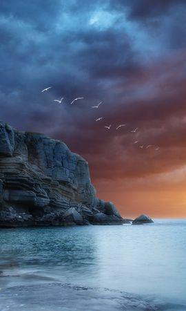 17614 скачать обои Пейзаж, Закат, Море - заставки и картинки бесплатно
