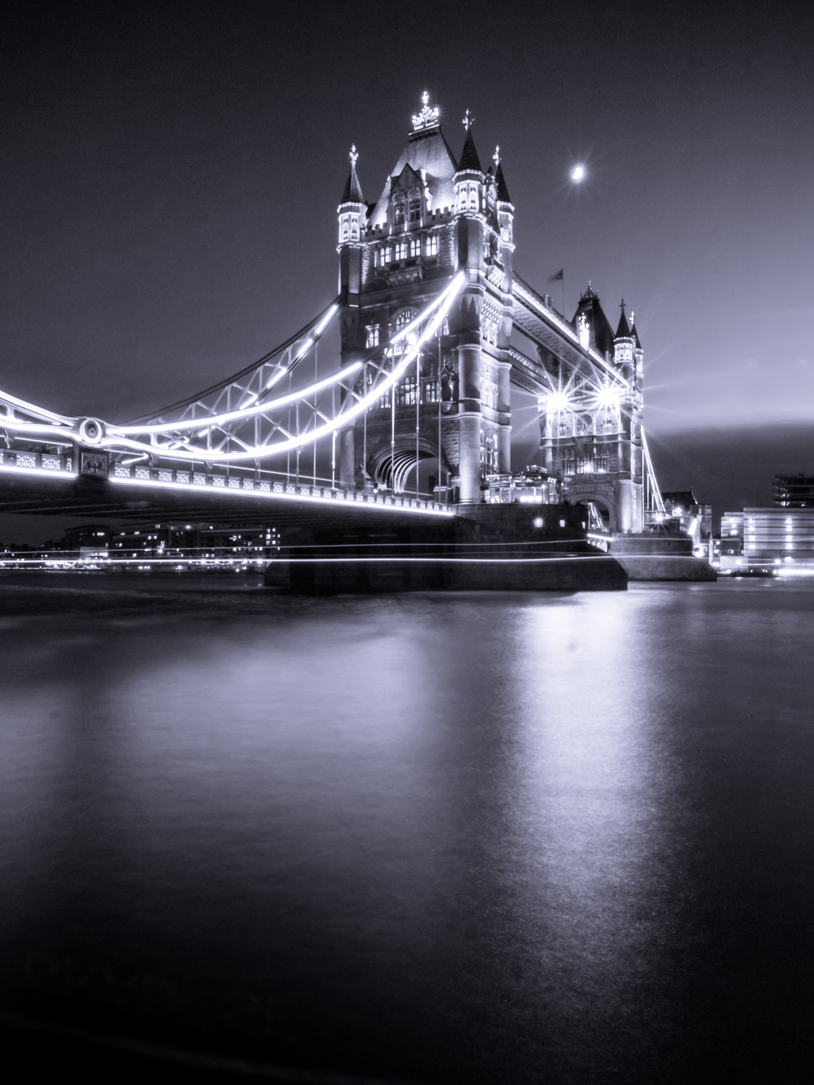 72438 Screensavers and Wallpapers London for phone. Download Cities, Rivers, London, Bridge, Bw, Chb, England, Thames, Tower Bridge pictures for free
