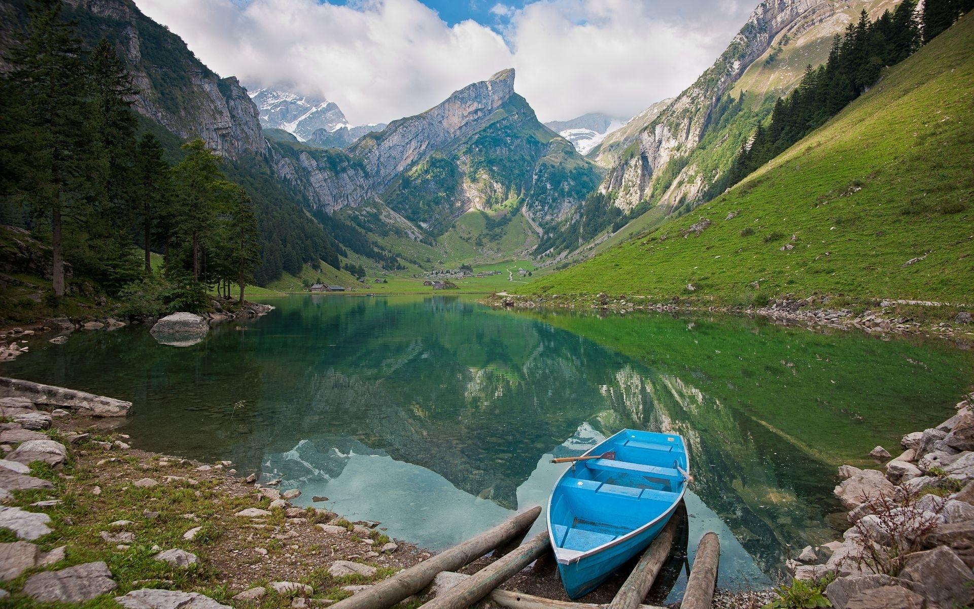 46996 télécharger le fond d'écran Paysage, Nature, Montagnes, Lacs - économiseurs d'écran et images gratuitement