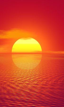 66521 скачать обои Природа, Закат, Горизонт, Фотошоп, Яркий, Солнце - заставки и картинки бесплатно