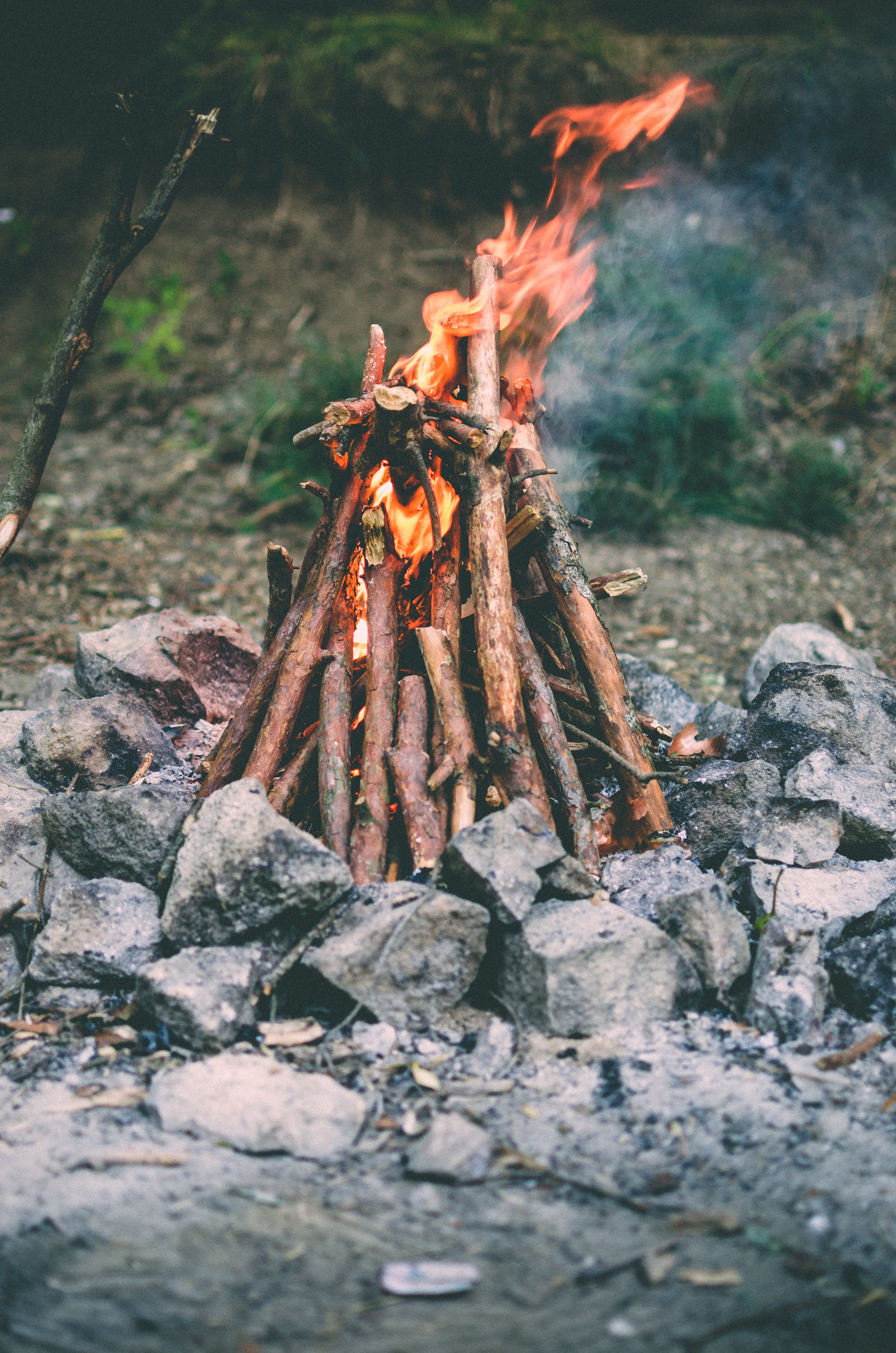 62680 Screensavers and Wallpapers Bonfire for phone. Download Nature, Stones, Fire, Bonfire, Camping, Campsite pictures for free