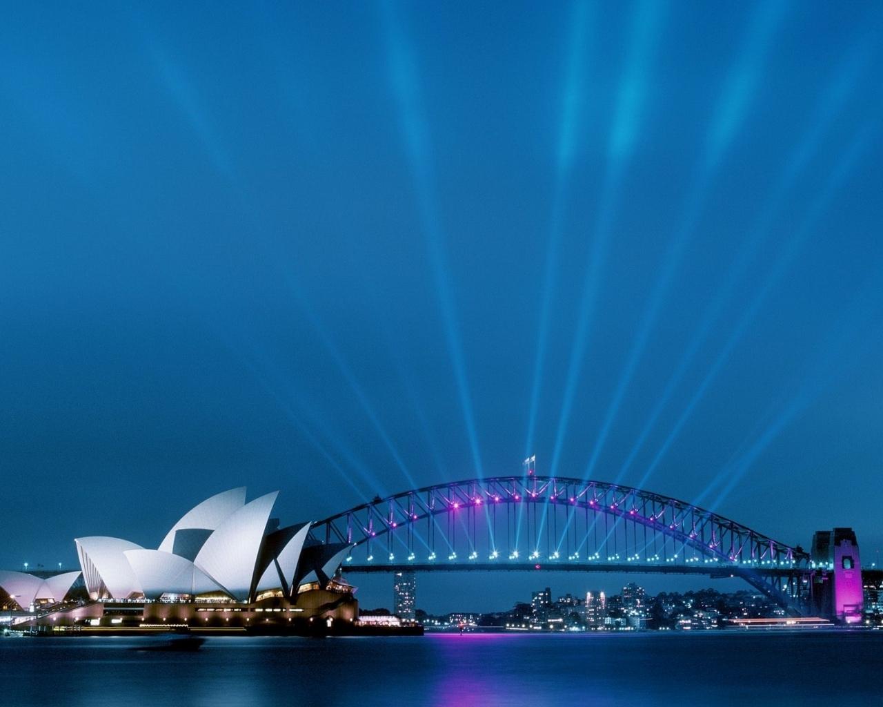 5406 скачать обои Пейзаж, Мосты, Небо, Сидней (Sydney) - заставки и картинки бесплатно