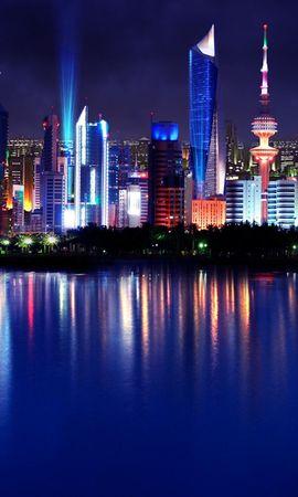 27062 скачать обои Пейзаж, Города, Море, Ночь - заставки и картинки бесплатно