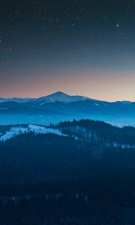 126250 скачать обои Природа, Вид Сверху, Звездное Небо, Ночь, Горы, Пейзаж - заставки и картинки бесплатно