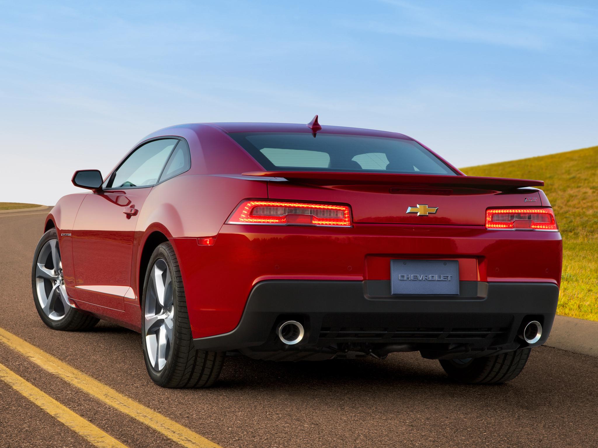 80148 скачать обои Шевроле (Chevrolet), Тачки (Cars), Красный, Вид Сзади, Camaro, 2013, Ss - заставки и картинки бесплатно