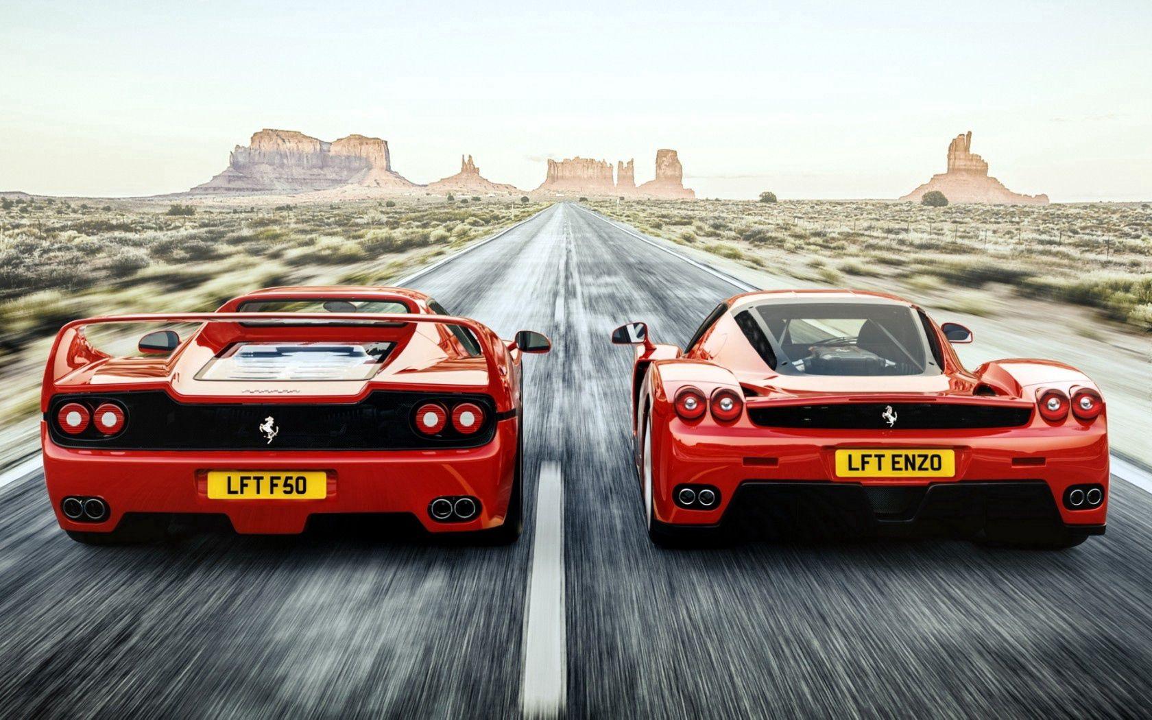 119363 télécharger le fond d'écran Ferrari, Voitures, Route, Vue Arrière, La Vitesse, Vitesse, Enzo, F50 - économiseurs d'écran et images gratuitement