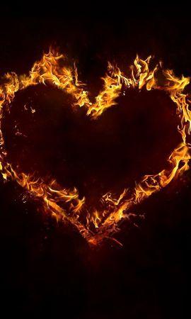 137598 baixar papel de parede Amor, Fogo, Fundo, Um Coração, Coração, Fumar - protetores de tela e imagens gratuitamente