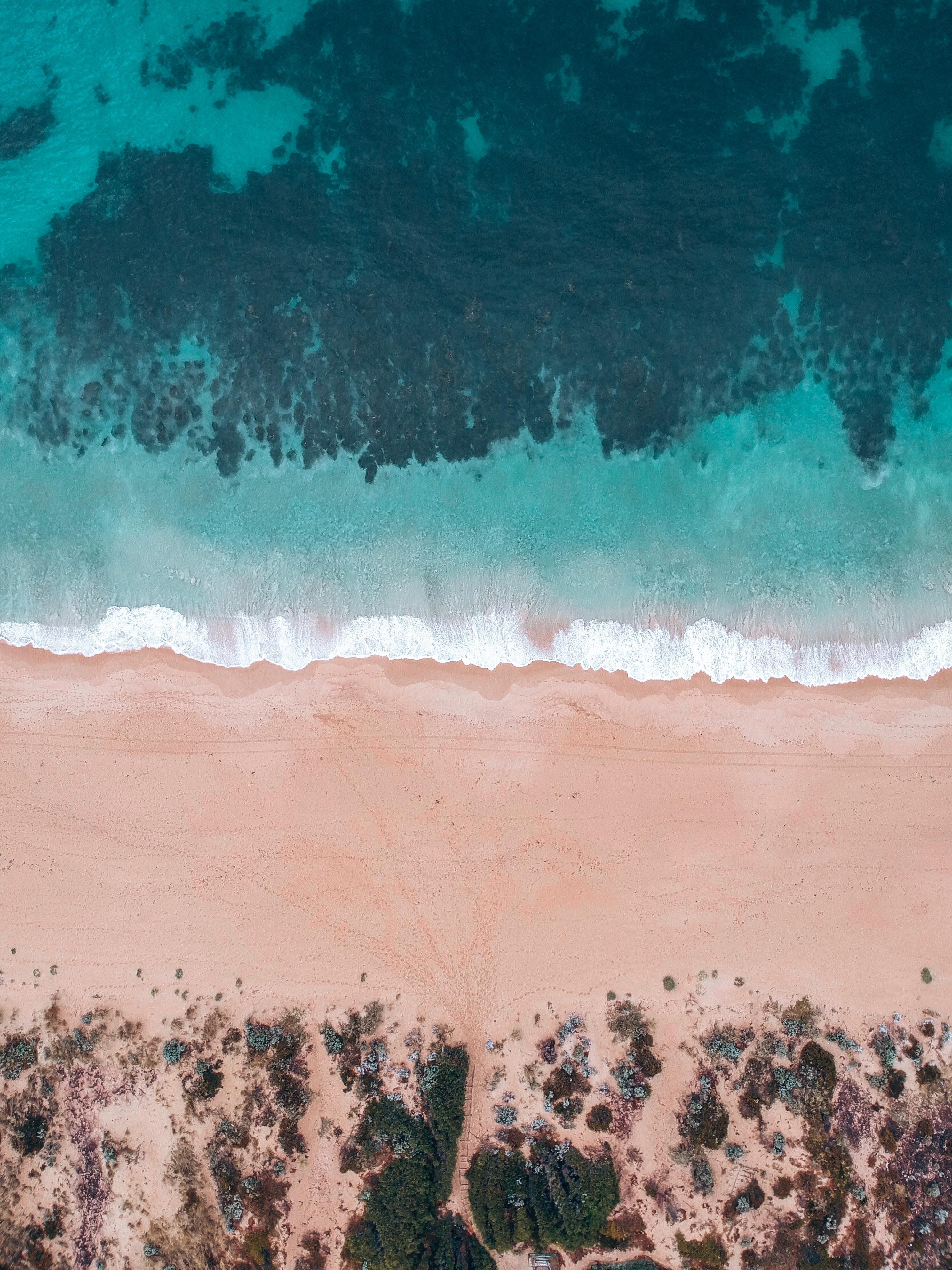 59447 免費下載壁紙 性质, 海, 海滩, 从上面看, 顶视图, 支撑, 海岸, 水, 沙 屏保和圖片