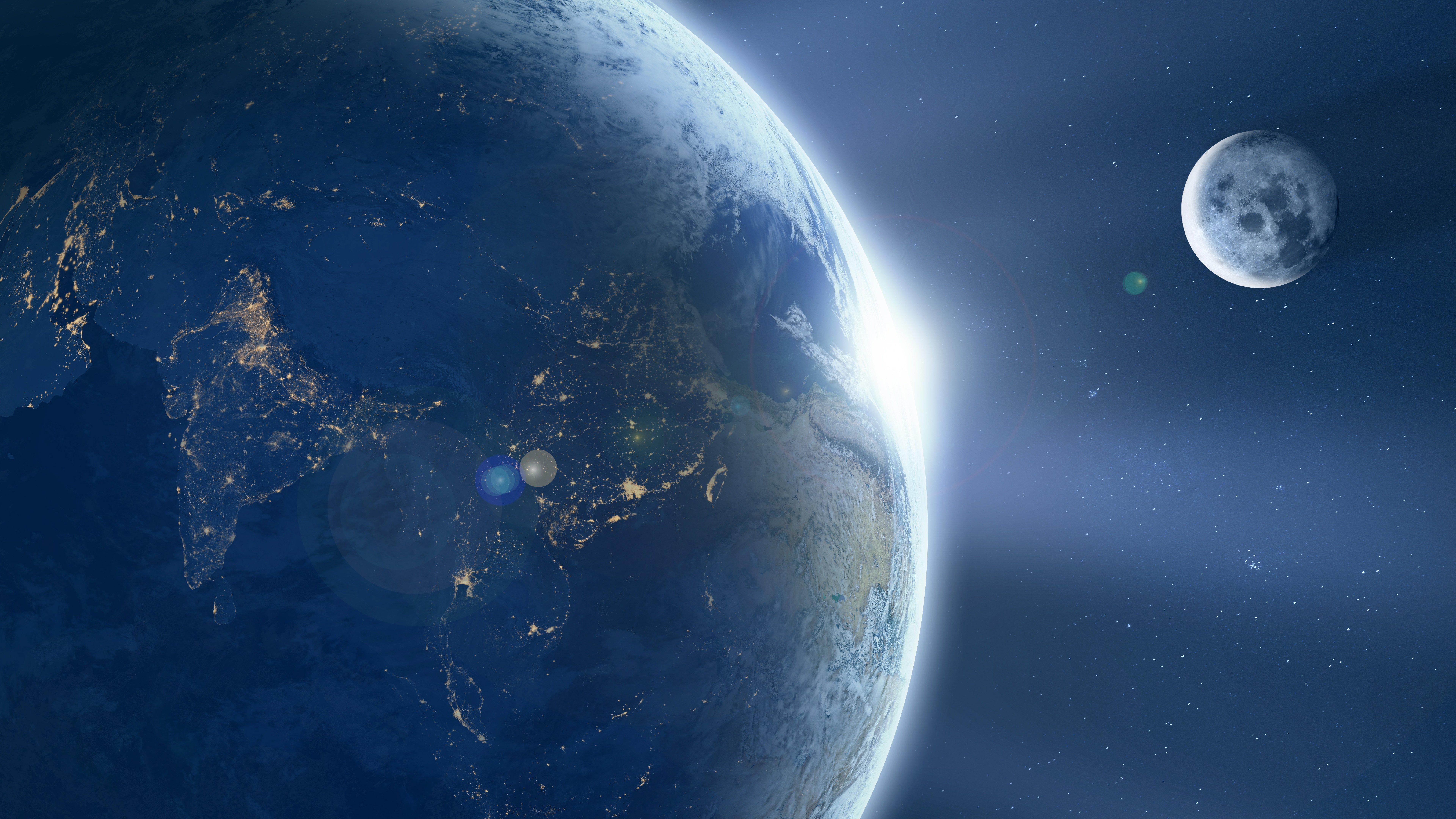 127006 скачать обои Земля, Планета, Вспышка, Свет, Космос - заставки и картинки бесплатно