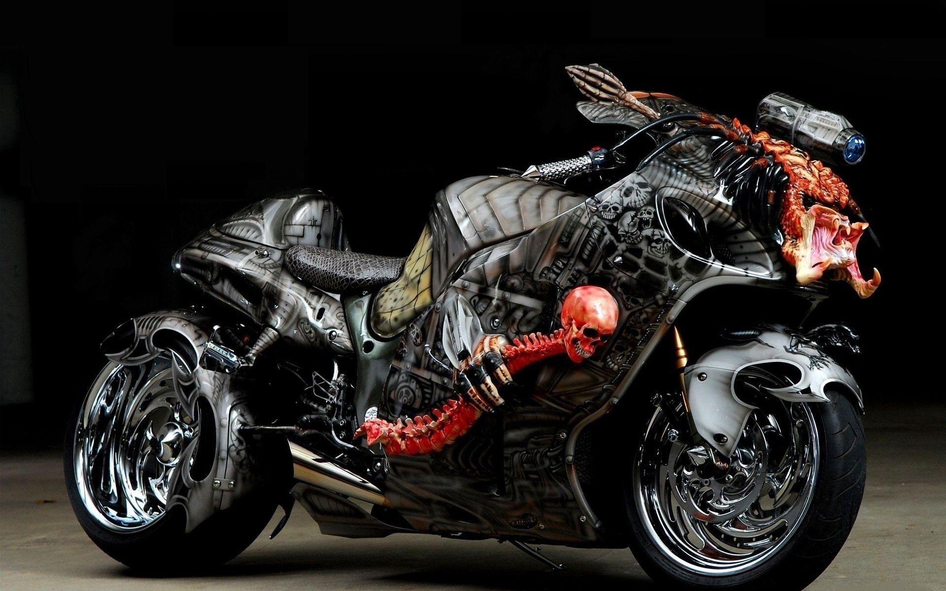 95637 скачать обои Мотоциклы, Тюнинг, Спортбайк, Аэрография, Дизайн - заставки и картинки бесплатно