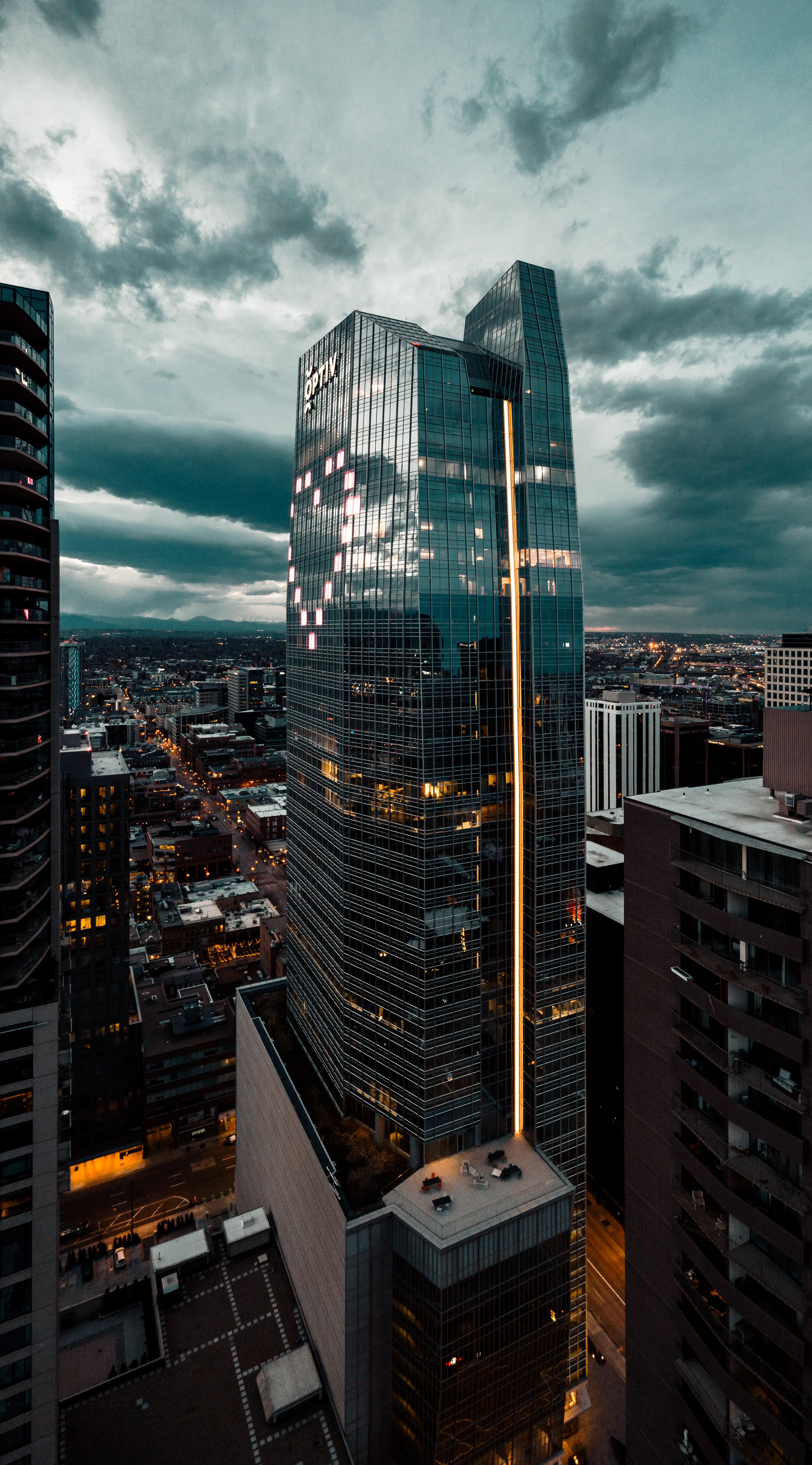 144983壁紙のダウンロード市, 都市, 建物, 超高層ビル, ハート, 心, 上から見る-スクリーンセーバーと写真を無料で