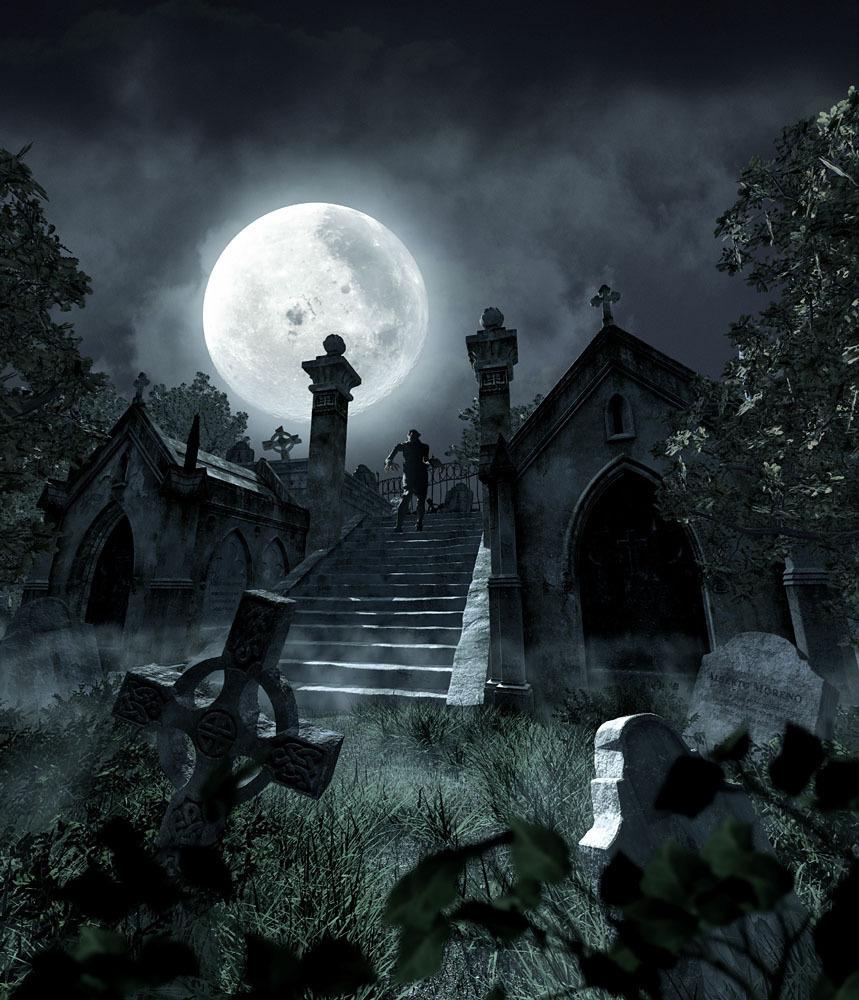 14508 免費下載壁紙 景观, 夜, 月球, 僵尸 屏保和圖片