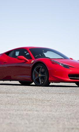 91901 скачать Красные обои на телефон бесплатно, Феррари (Ferrari), Италия, Тачки (Cars), 458 Italia Красные картинки и заставки на мобильный