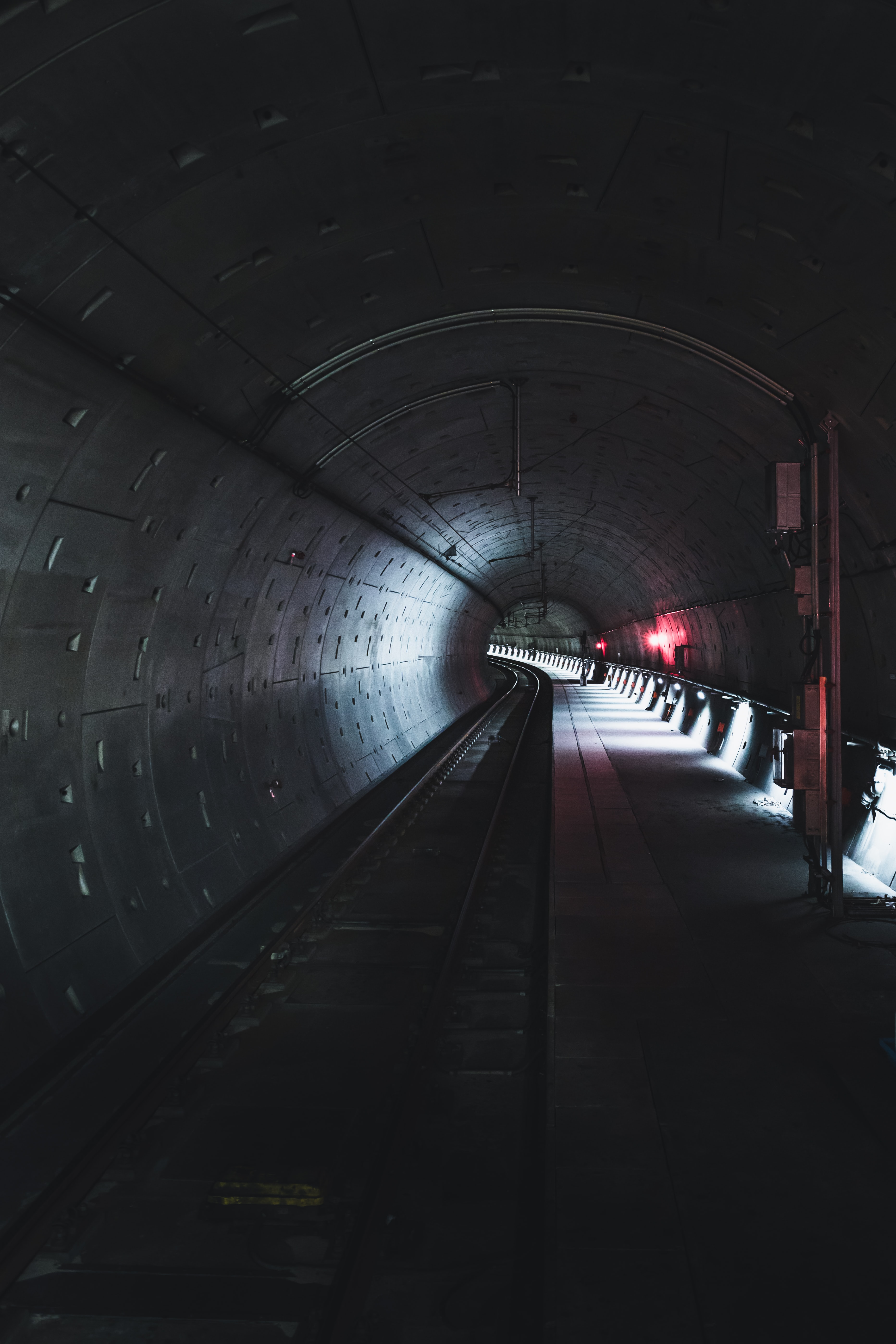 60282 Screensavers and Wallpapers Metro for phone. Download Dark, Miscellanea, Miscellaneous, Tunnel, Rails, Metro, Subway pictures for free