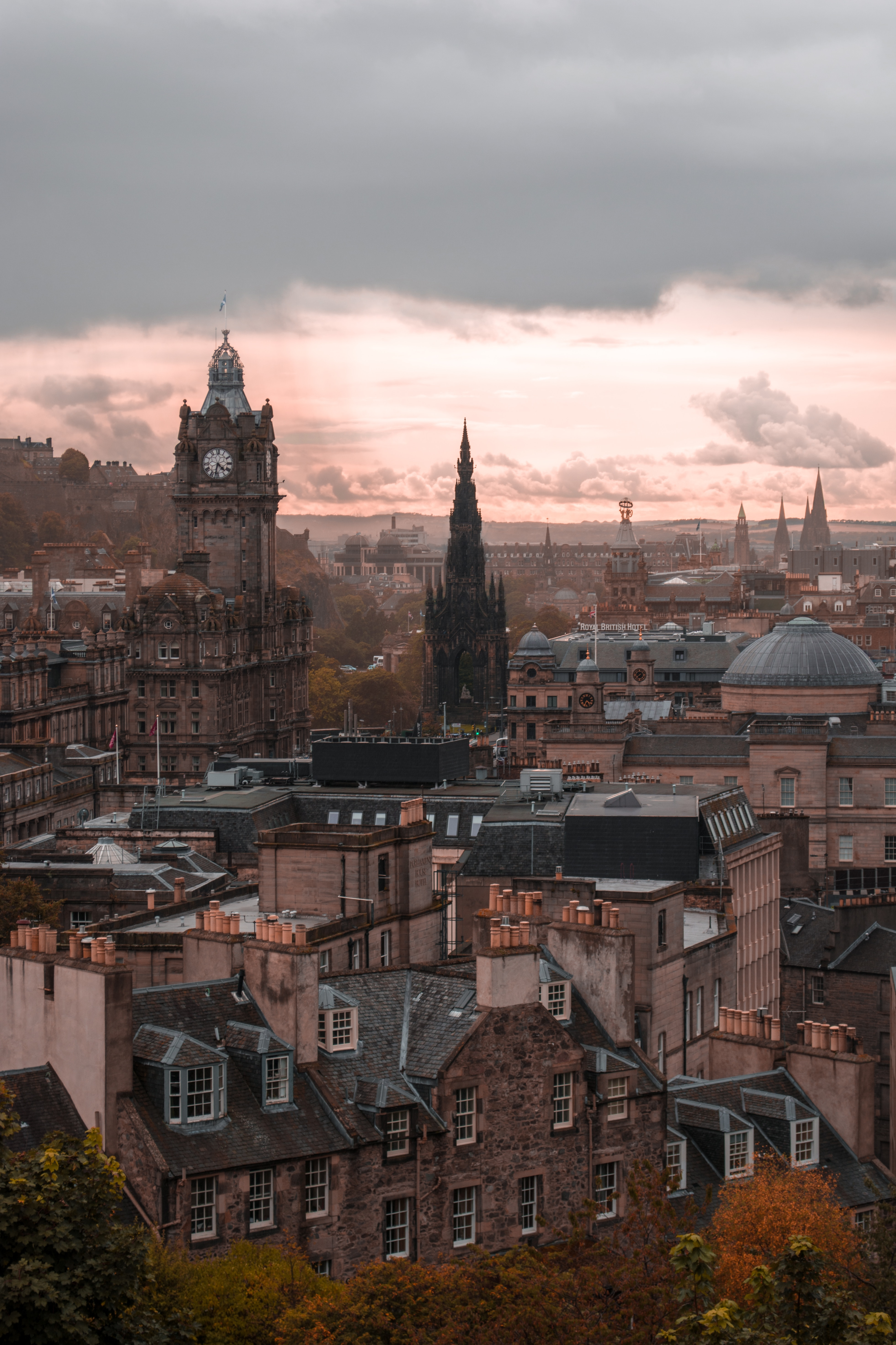 105504 скачать обои Архитектура, Город, Города, Здания, Вид Сверху, Старый, Эдинбург - заставки и картинки бесплатно