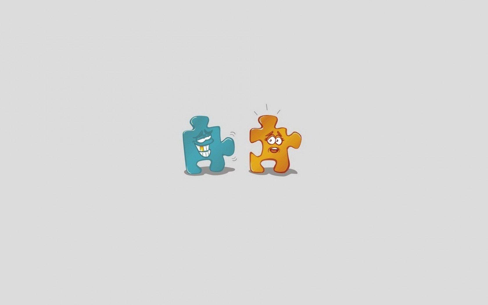 82159 Bildschirmschoner und Hintergrundbilder Humor auf Ihrem Telefon. Laden Sie Humor, Vektor, Paar, Minimalismus, Puzzle, Jigsaw Bilder kostenlos herunter