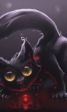 46137 скачать обои Животные, Кошки (Коты, Котики), Рисунки - заставки и картинки бесплатно