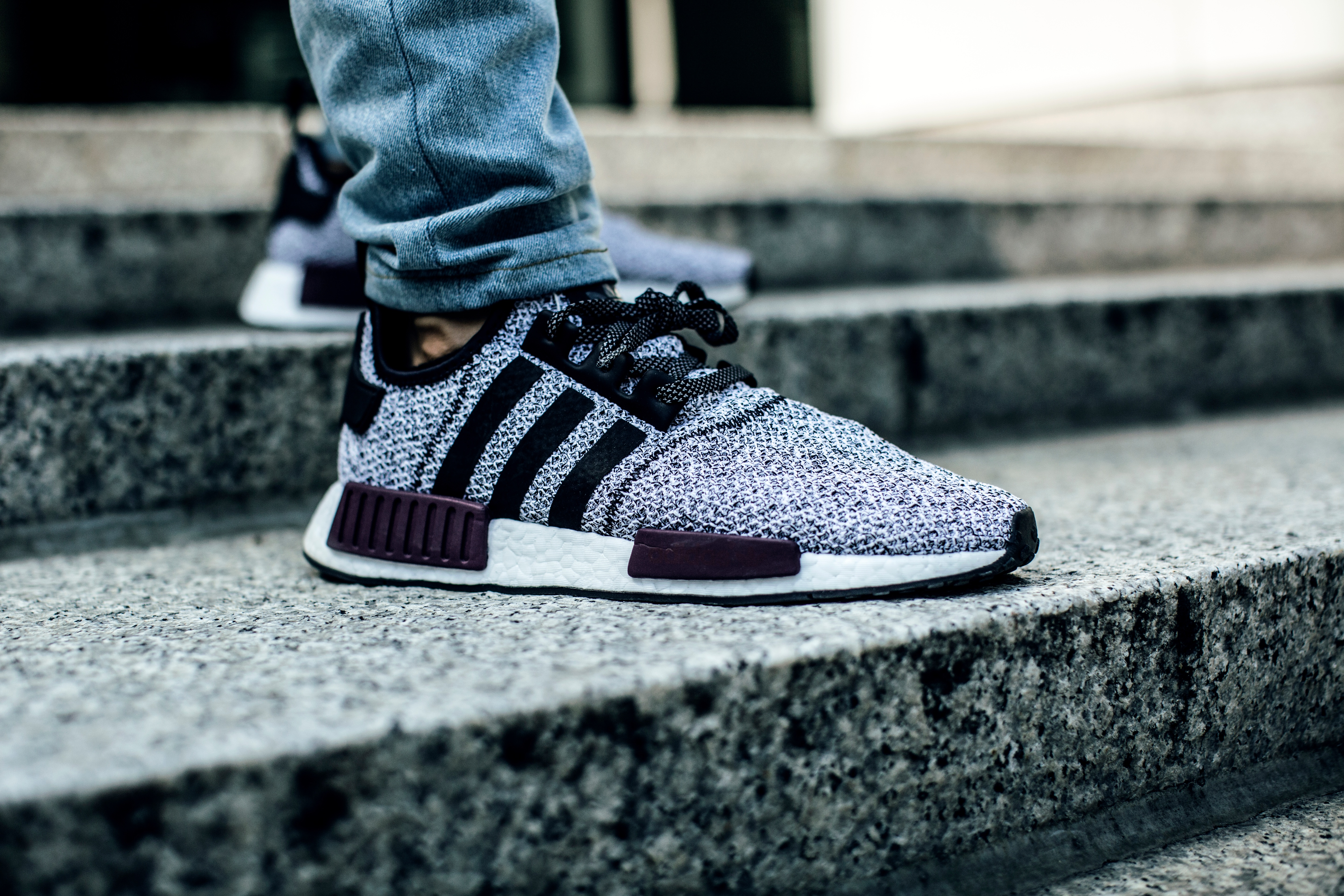 132466 Screensavers and Wallpapers Adidas for phone. Download Adidas, Miscellanea, Miscellaneous, Legs, Sneakers, Stairs, Ladder, Jeans, Footwear pictures for free