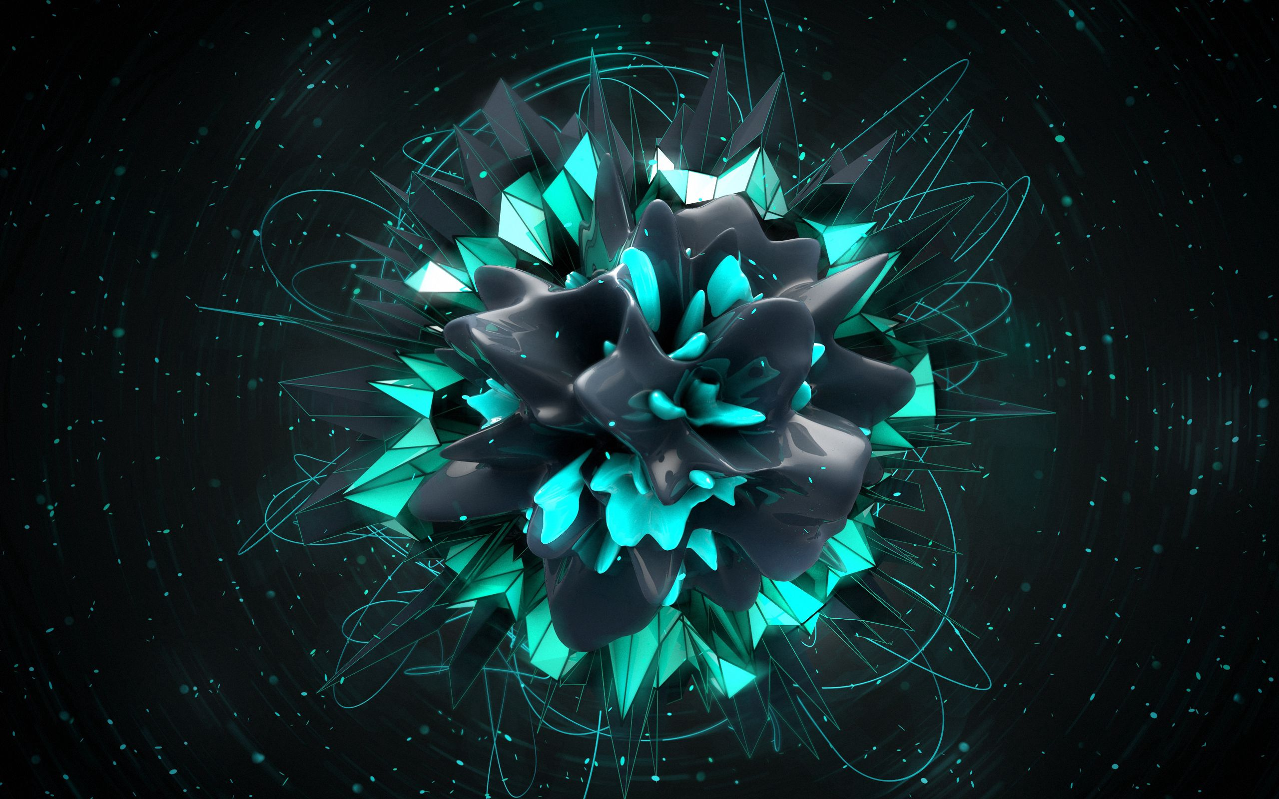 147576 download wallpaper Abstract, Form, Dark, Explosion screensavers and pictures for free