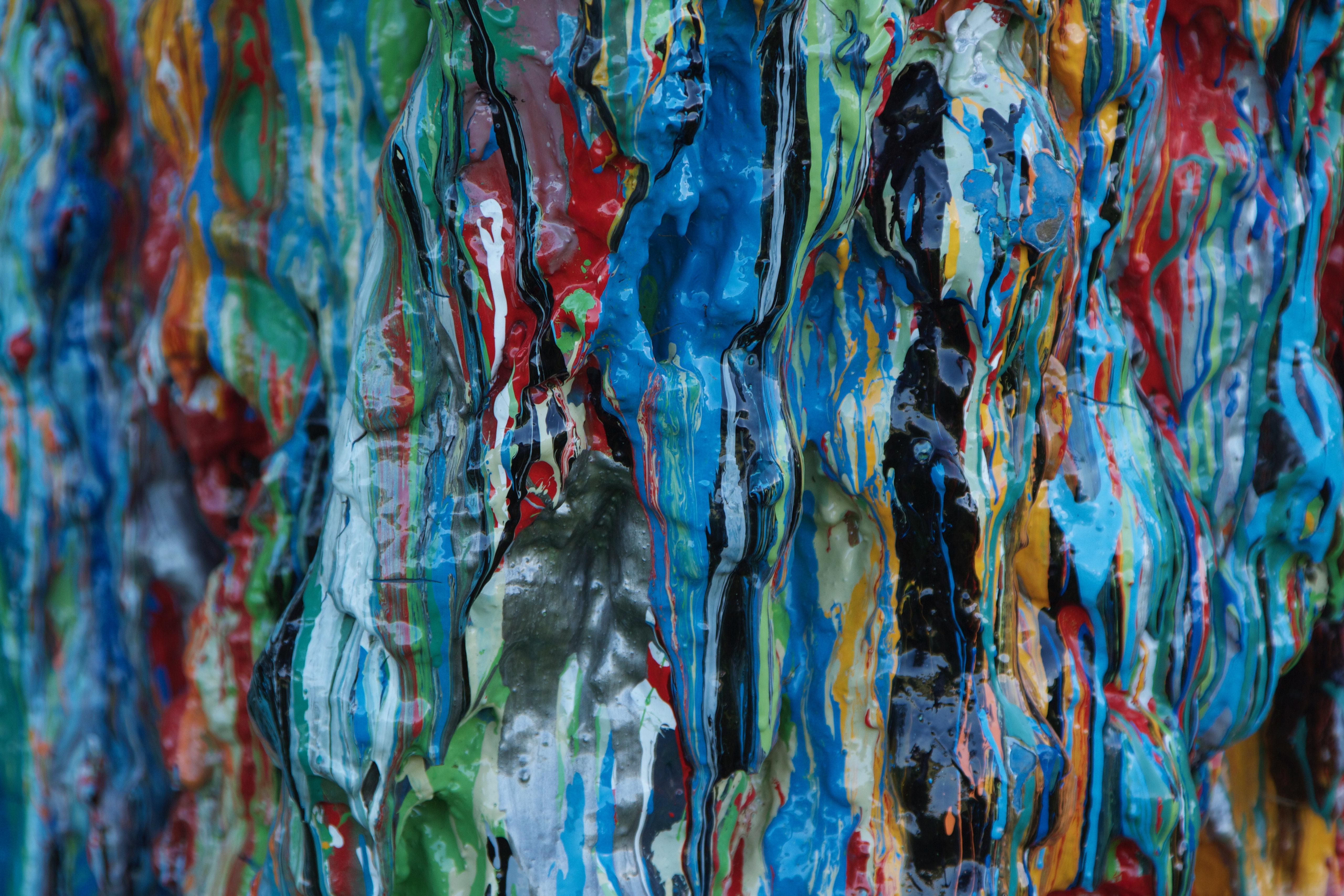 127322 скачать обои Абстракция, Краска, Разноцветный, Поверхность, Объем - заставки и картинки бесплатно