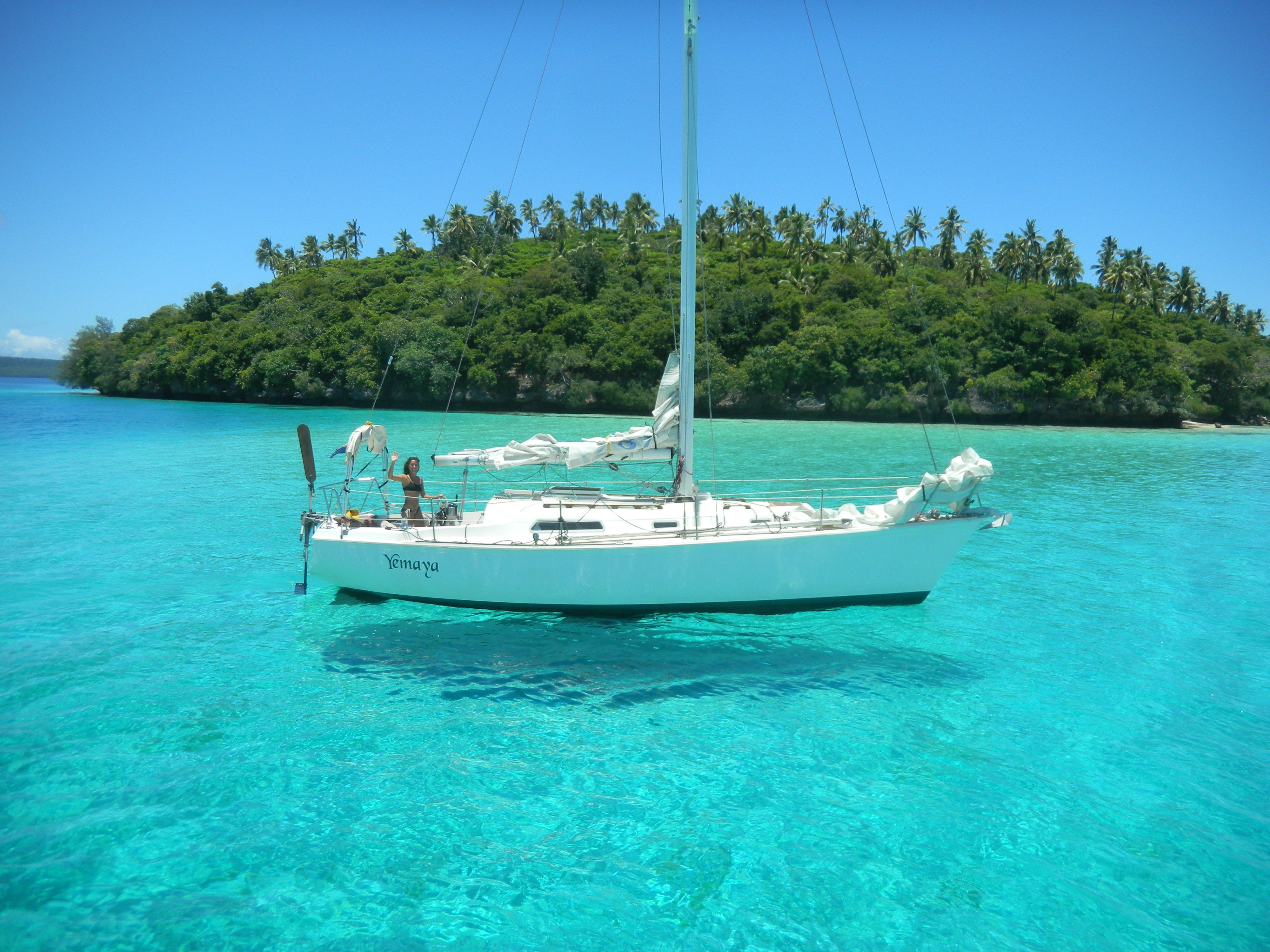 130370 Screensavers and Wallpapers Island for phone. Download Nature, Tropics, Island, Yacht pictures for free
