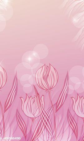 9611 télécharger le fond d'écran Fleurs, Tulipes, Dessins - économiseurs d'écran et images gratuitement