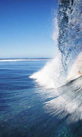 28068 скачать обои Спорт, Пейзаж, Море, Волны, Серфинг - заставки и картинки бесплатно