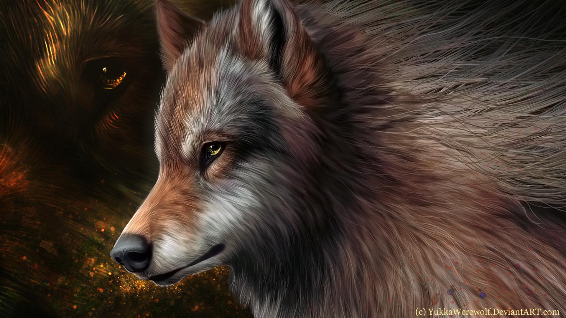 18645 скачать обои Животные, Волки, Рисунки - заставки и картинки бесплатно