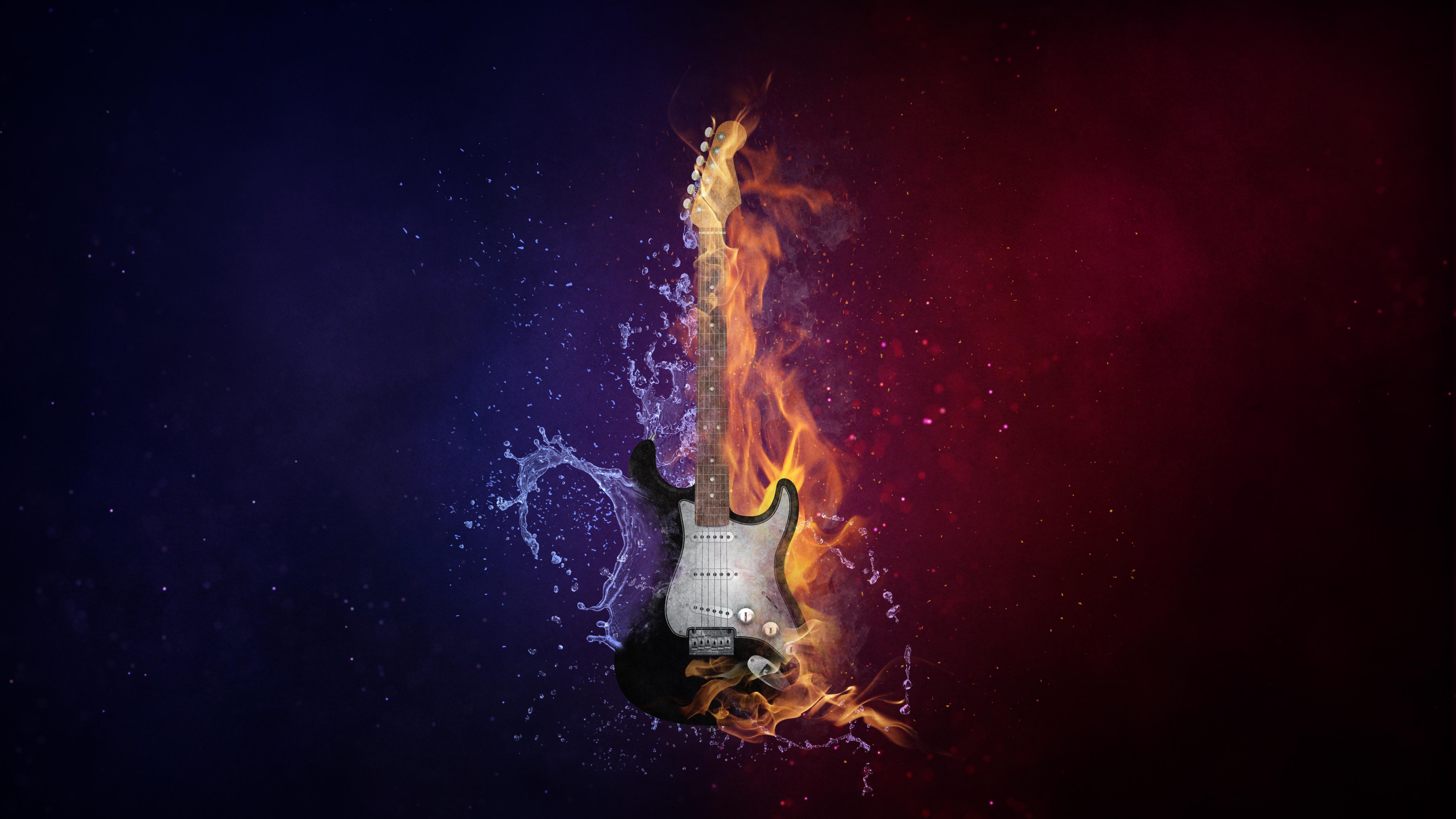 145063 Salvapantallas y fondos de pantalla Música en tu teléfono. Descarga imágenes de Música, Guitarra, Fuego, Agua, Photoshop gratis