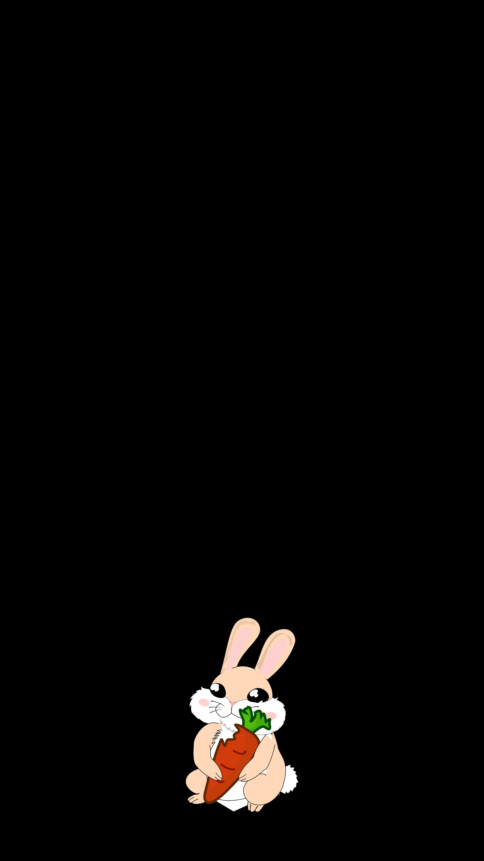 106271 Hintergrundbild herunterladen Kaninchen, Kunst, Vektor, Minimalismus, Karotte - Bildschirmschoner und Bilder kostenlos