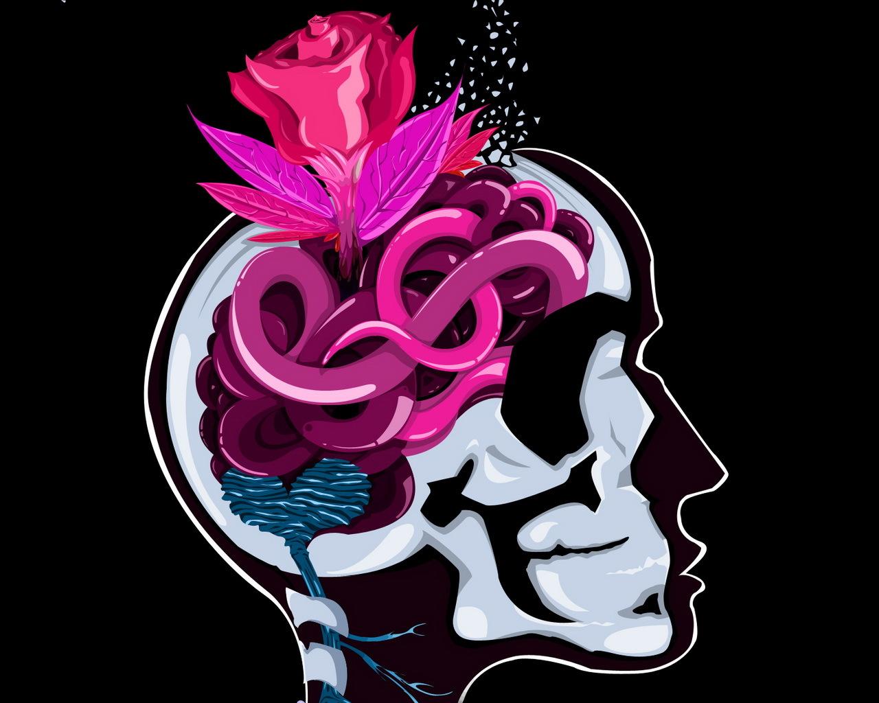 Скачать картинку Абстракция, Цветы, Арт, Розы, Рисунки в телефон бесплатно.