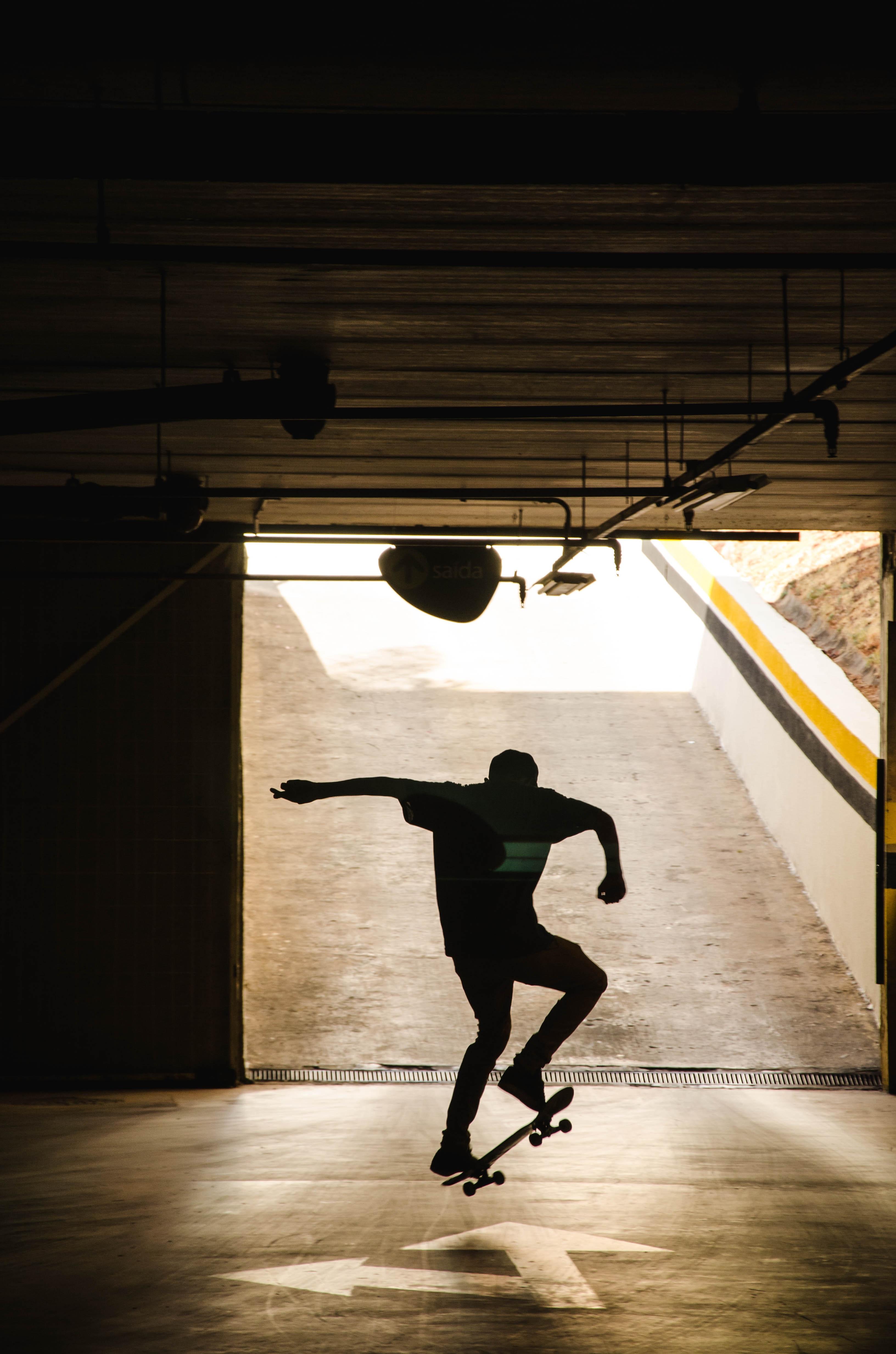 99498 скачать обои Спорт, Скейтборд, Скейтер, Силуэт, Трюк - заставки и картинки бесплатно